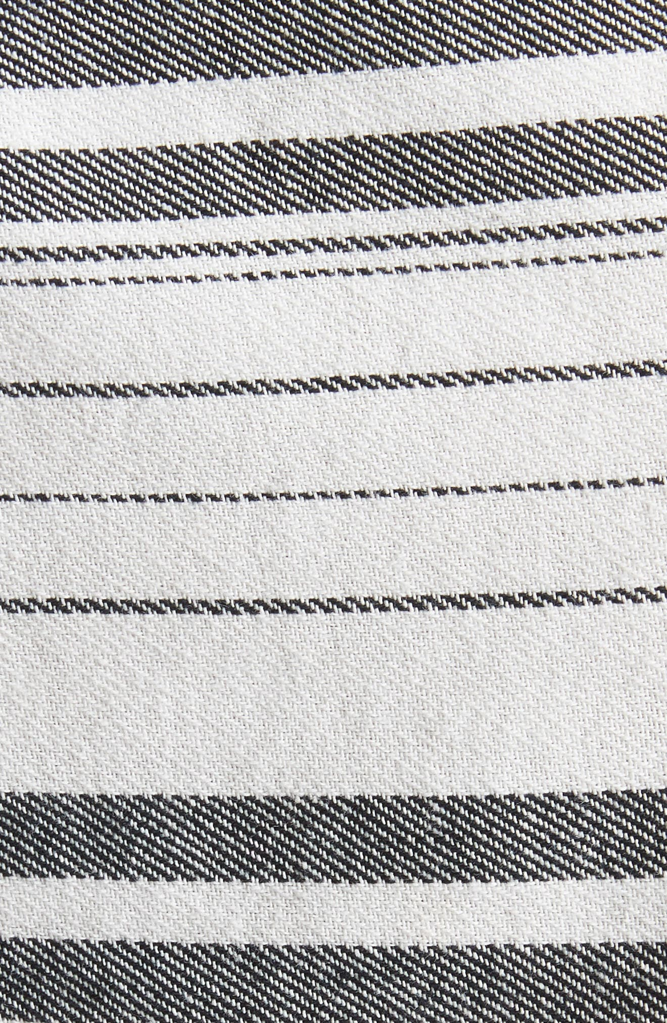 Bryga Stripe Cotton Twill Top,                             Alternate thumbnail 5, color,                             Caviar