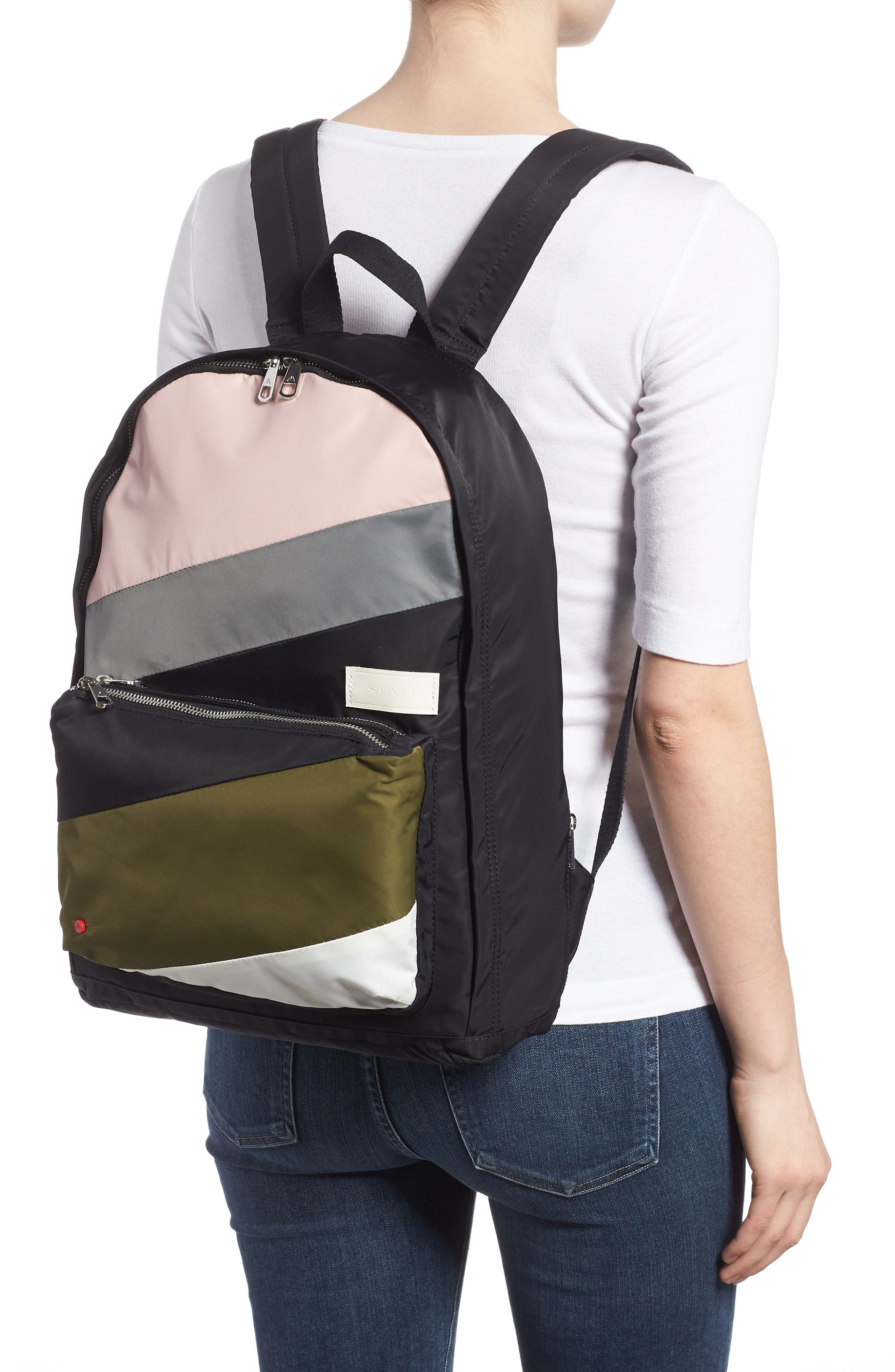The Heights Lorimer Backpack,                             Alternate thumbnail 2, color,                             Black Stripe