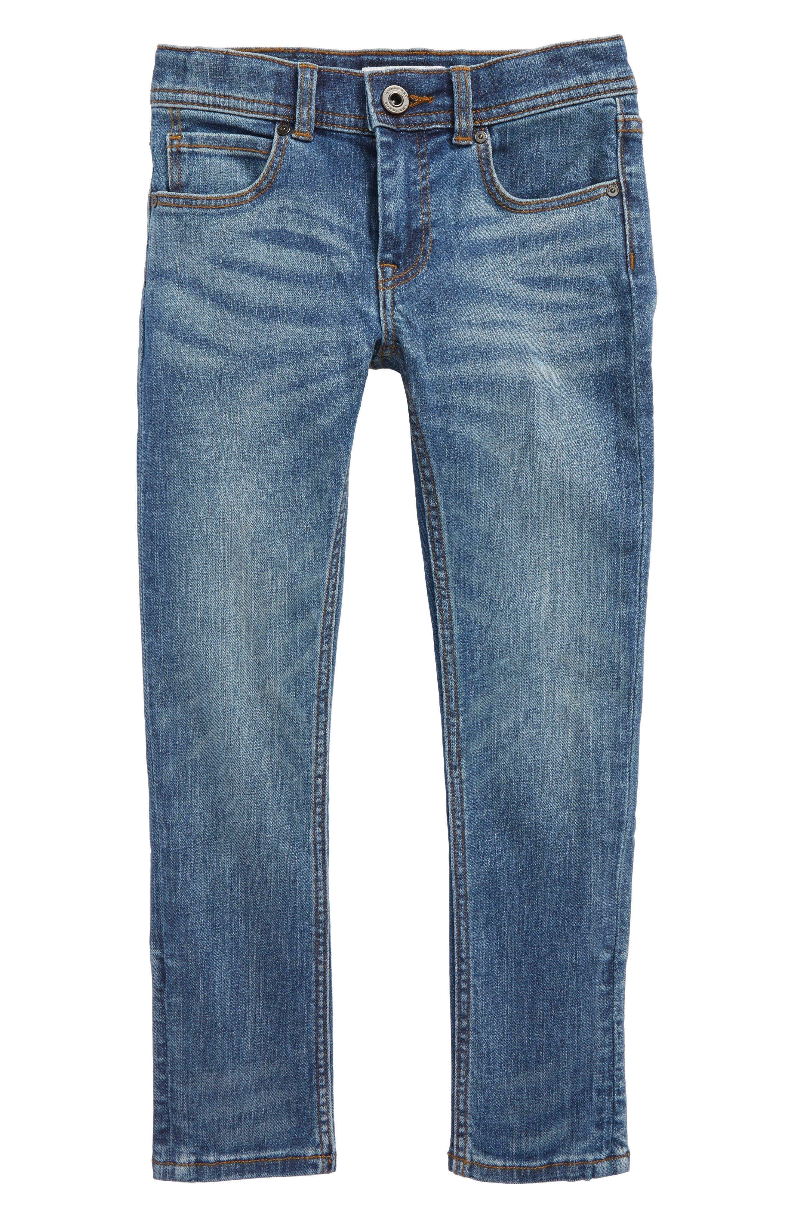 Skinny Jeans,                             Main thumbnail 1, color,                             Mid Indigo