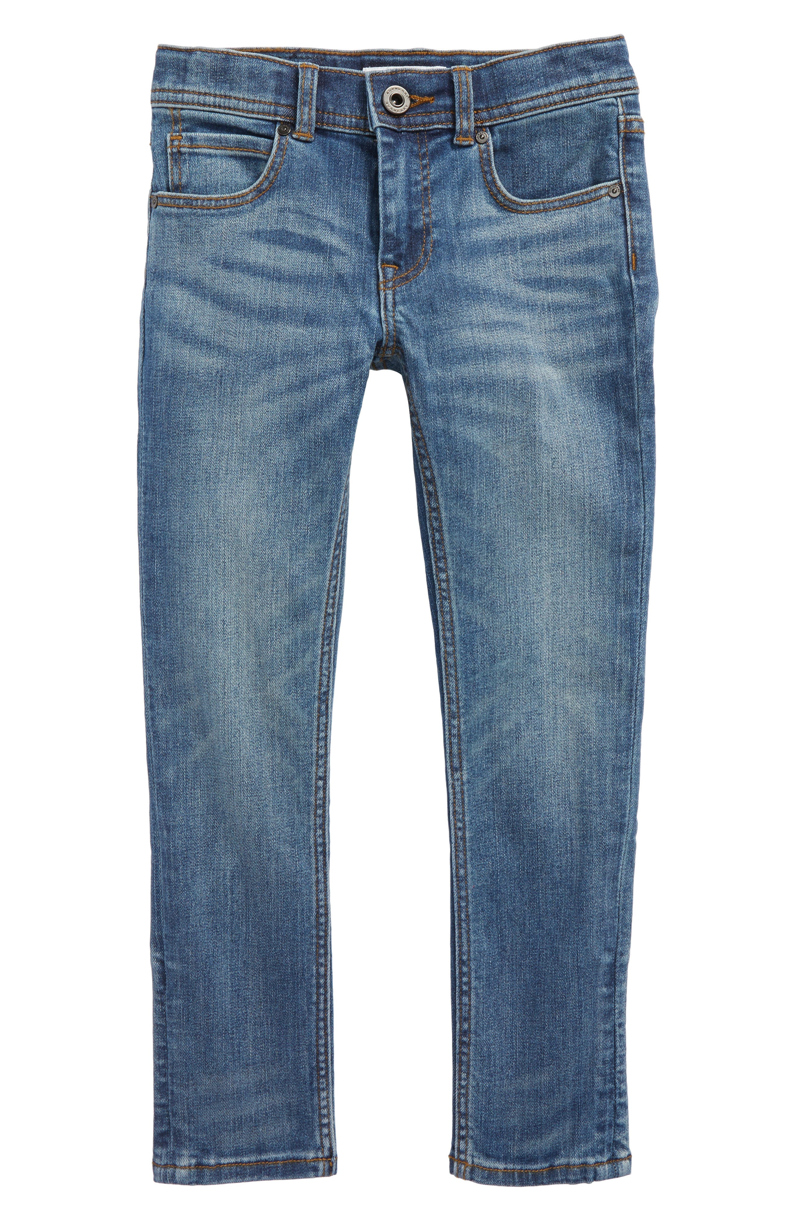 Skinny Jeans,                         Main,                         color, Mid Indigo