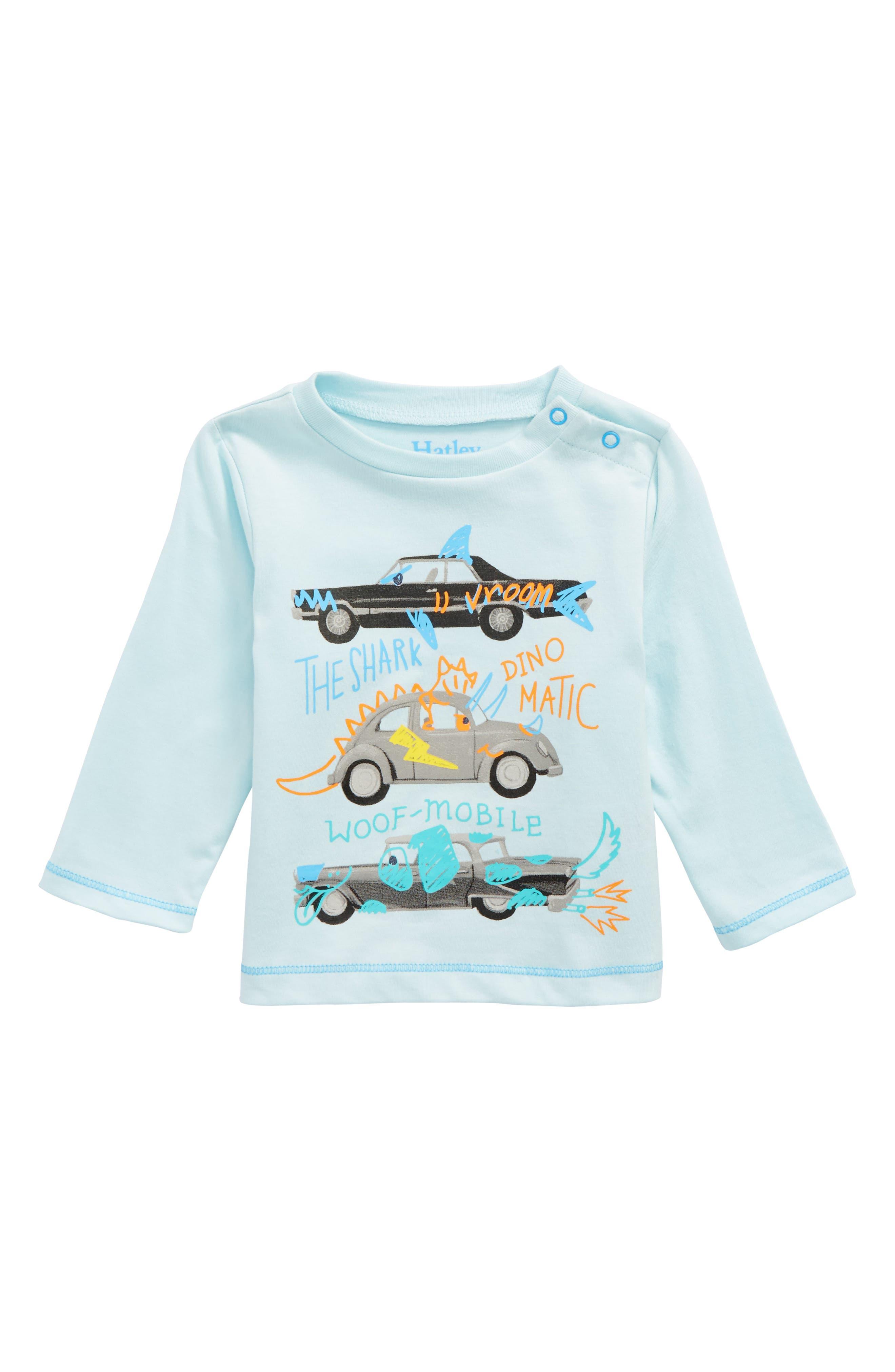 Monster Car T-Shirt,                             Main thumbnail 1, color,                             Monster Car Doodles