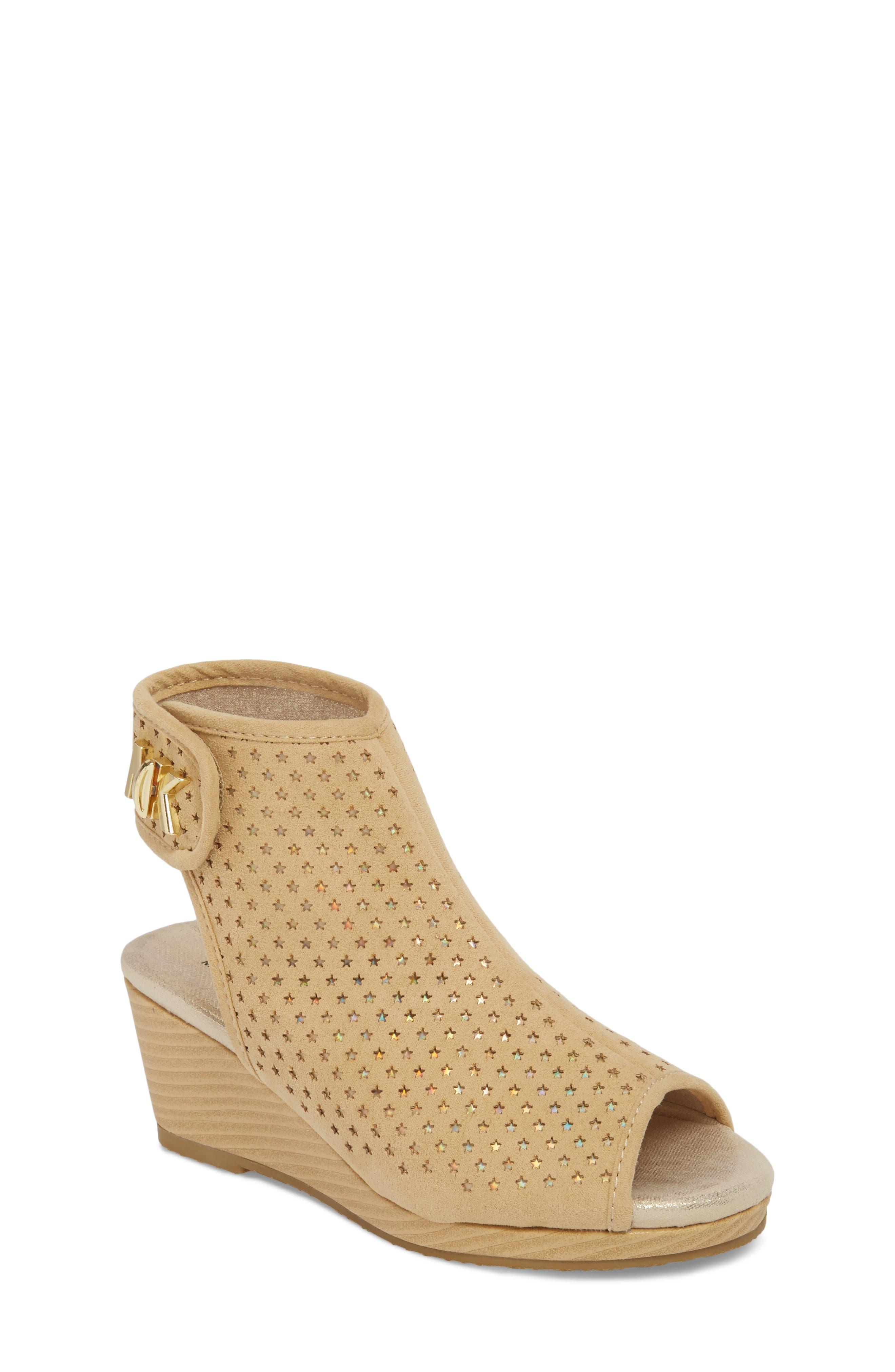 Cate Foe Wedge Sandal,                         Main,                         color, Sand