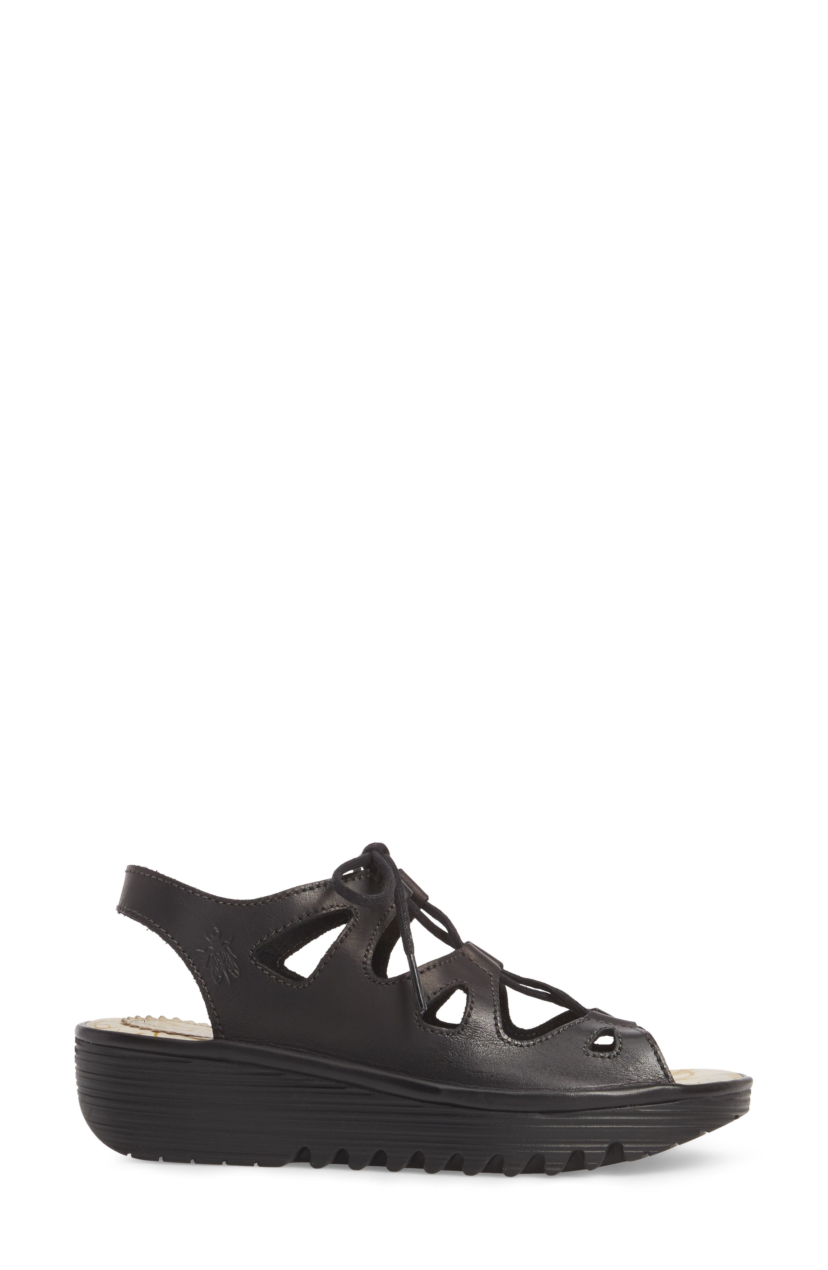 Exon Sandal,                             Alternate thumbnail 3, color,                             Black Colmar Leather