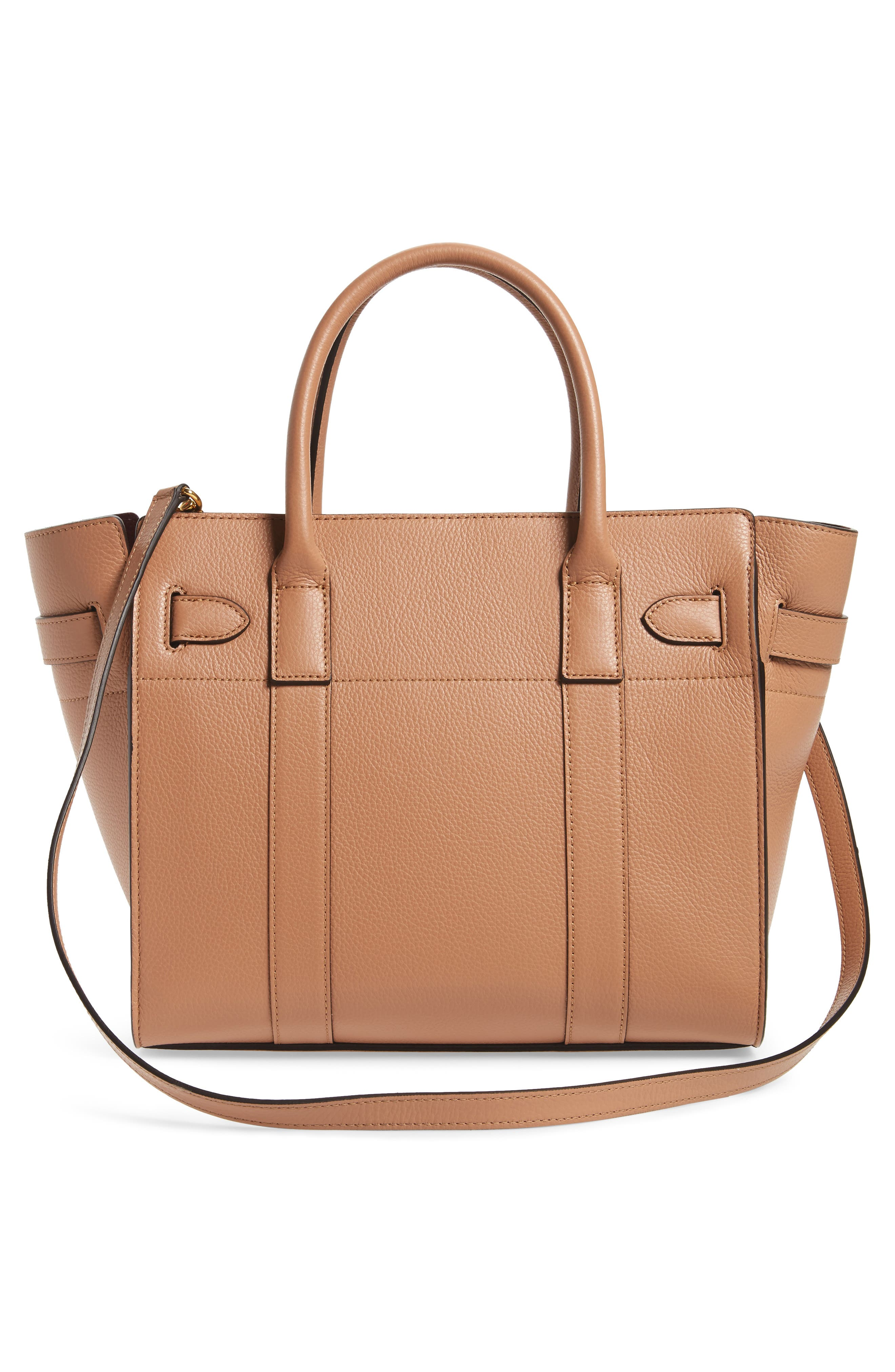 Alternate Image 3  - Mulberry Small Zip Bayswater Classic Leather Tote