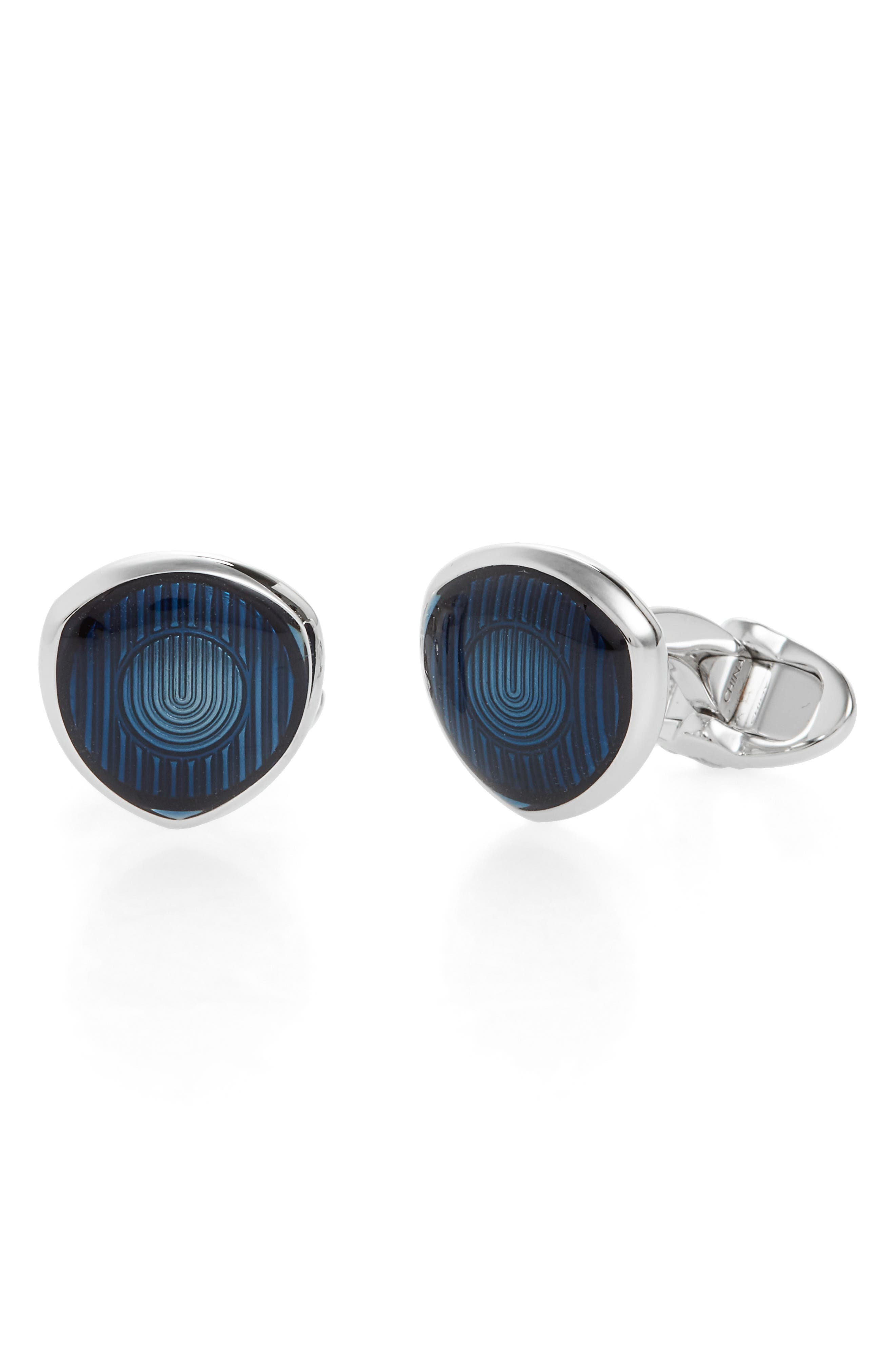 Headlamp Cuff Links,                         Main,                         color, Blue/Silver