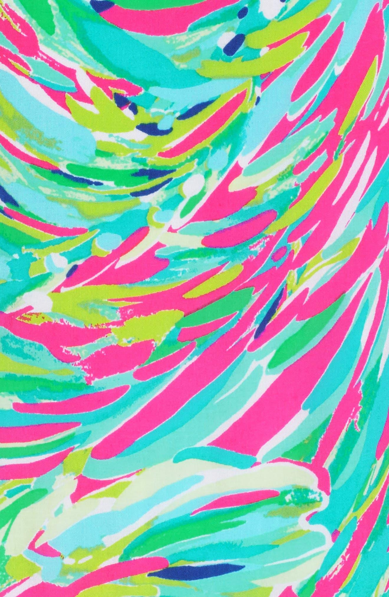 Morgana Ruffle Hem Sundress,                             Alternate thumbnail 5, color,                             Raz Berry Shady Lady