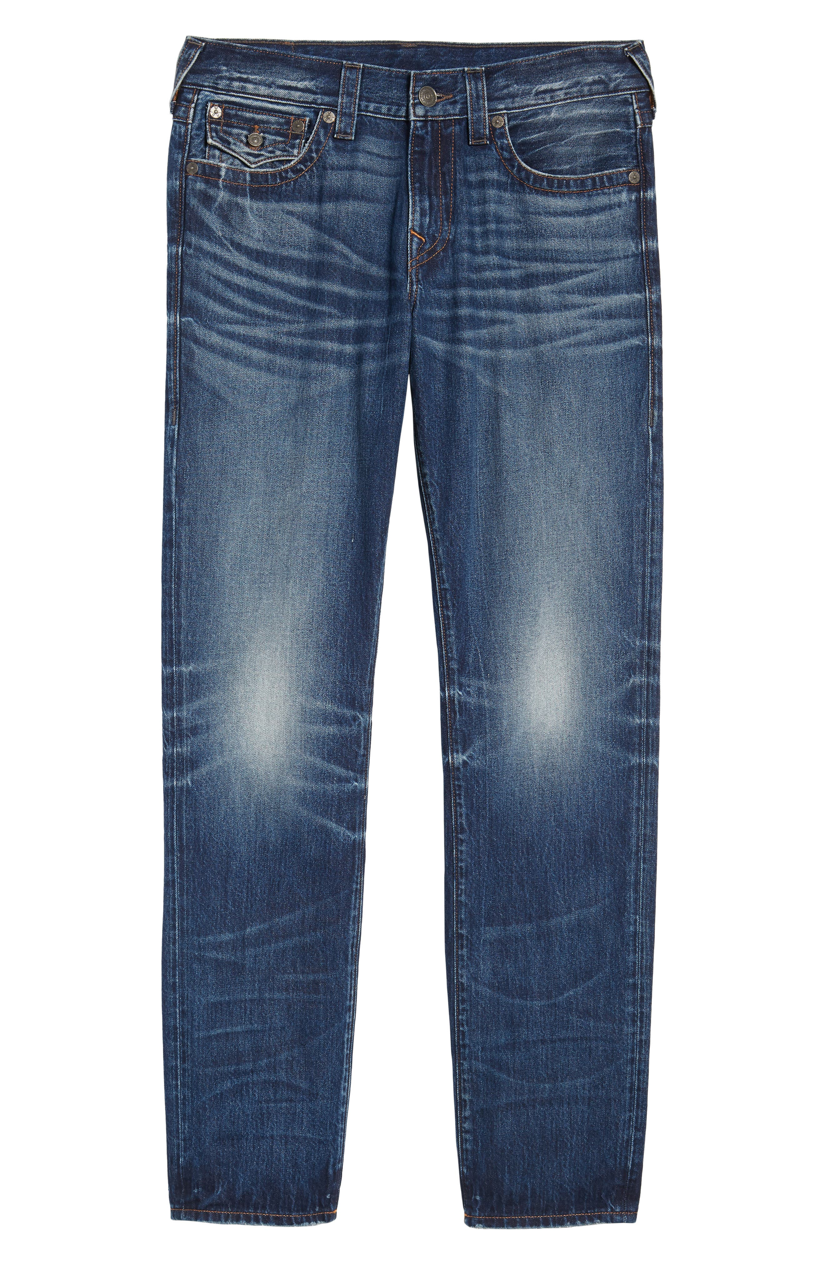 Alternate Image 6  - True Religion Brand Jeans Geno Straight Leg Jeans (Dark After Hours)