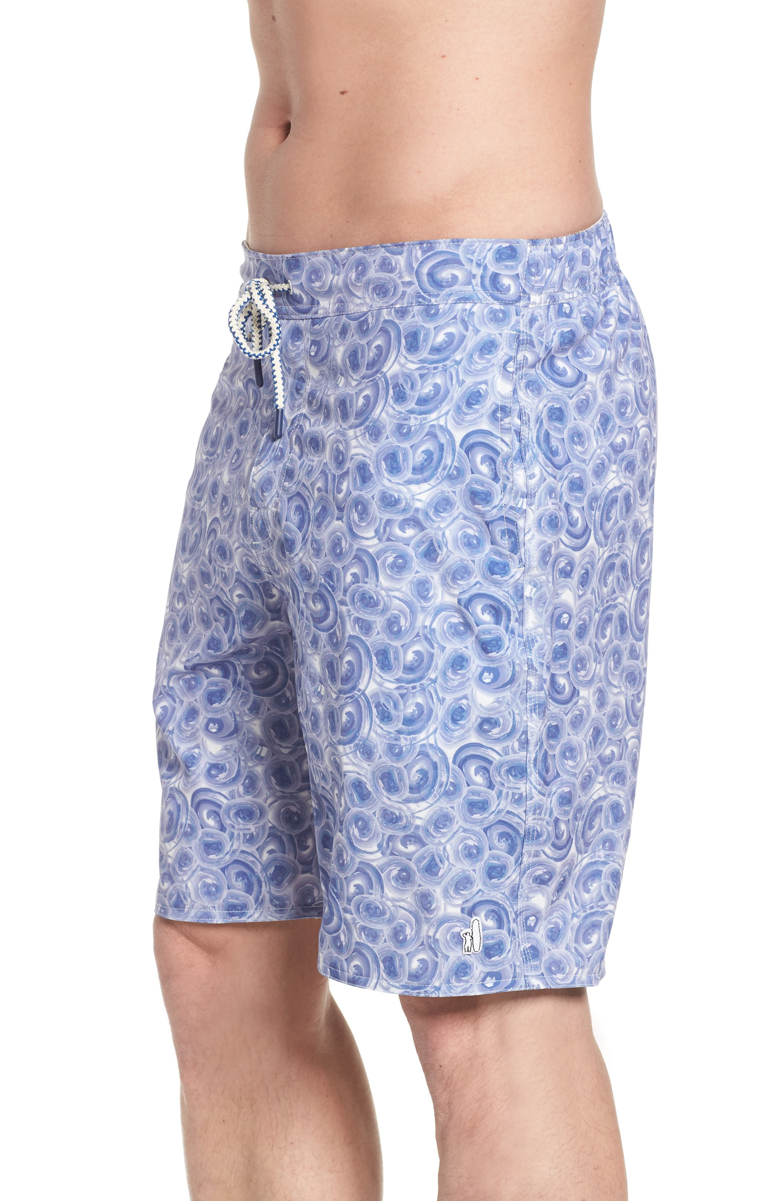 High Tide Regular Fit Board Shorts,                             Alternate thumbnail 3, color,                             Gulf Blue