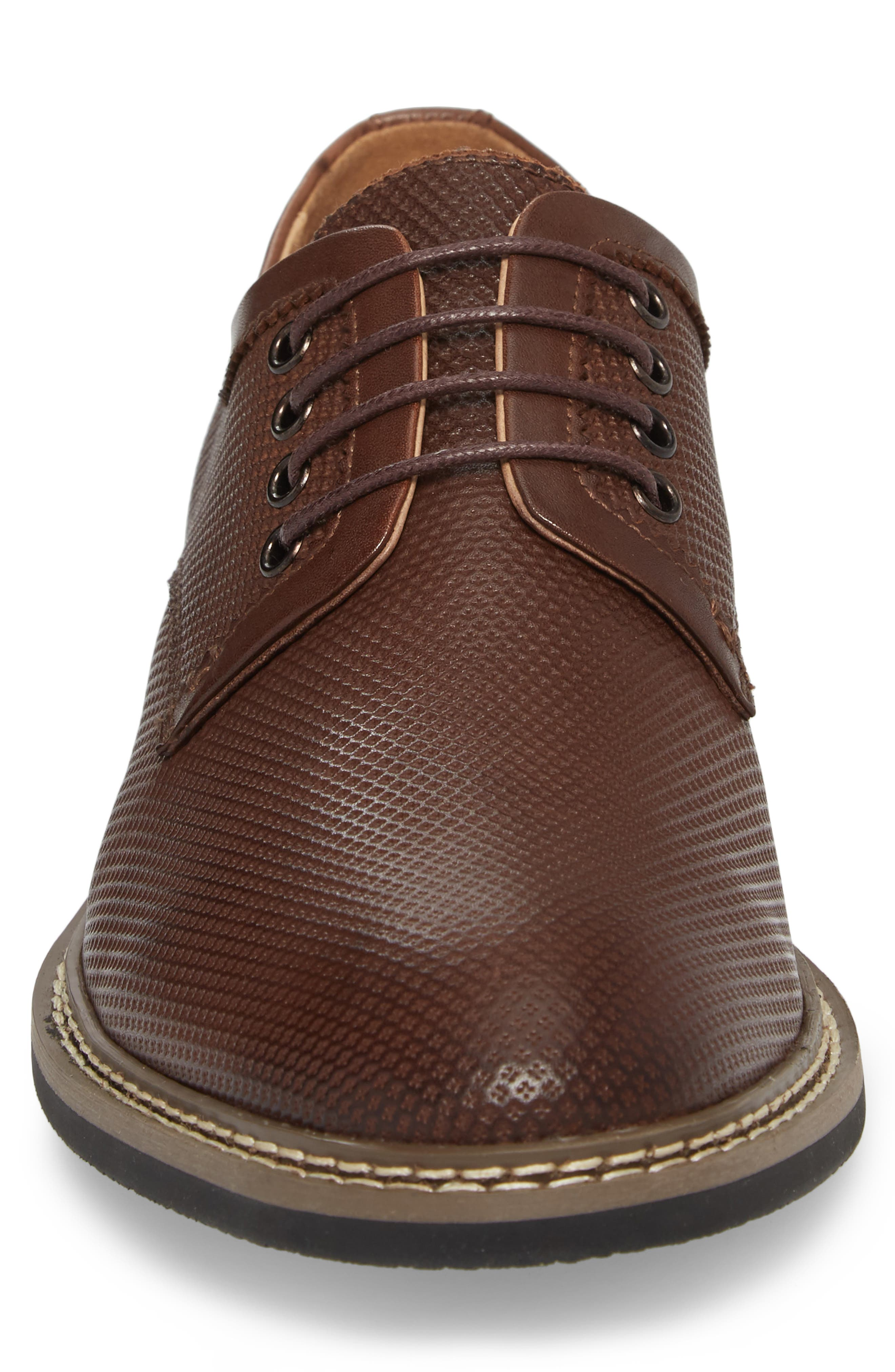 Canning Plain Toe Derby,                             Alternate thumbnail 4, color,                             Brown Leather
