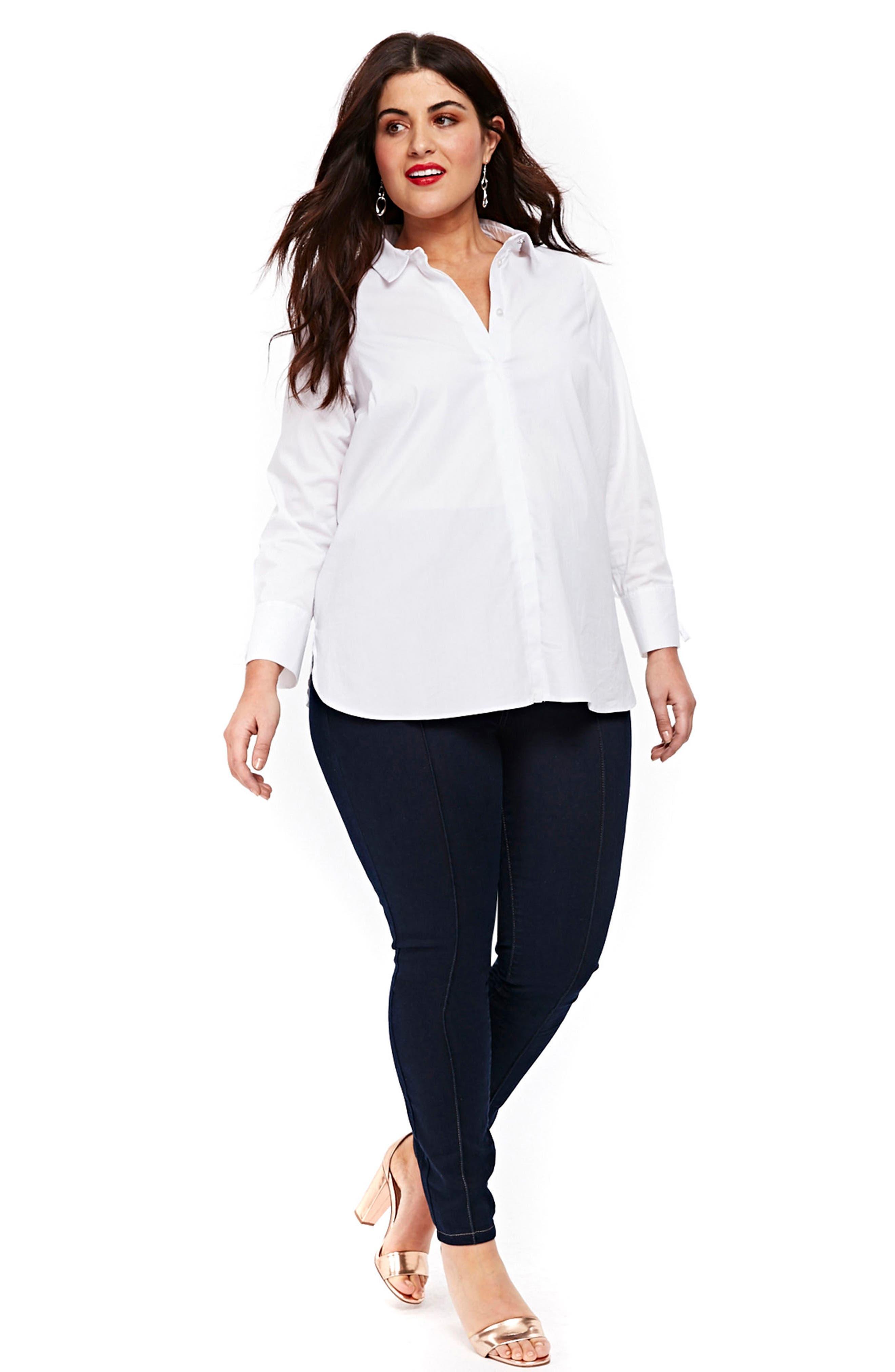 Pintuck High Waist Skinny Jeans,                             Alternate thumbnail 2, color,                             Indigo