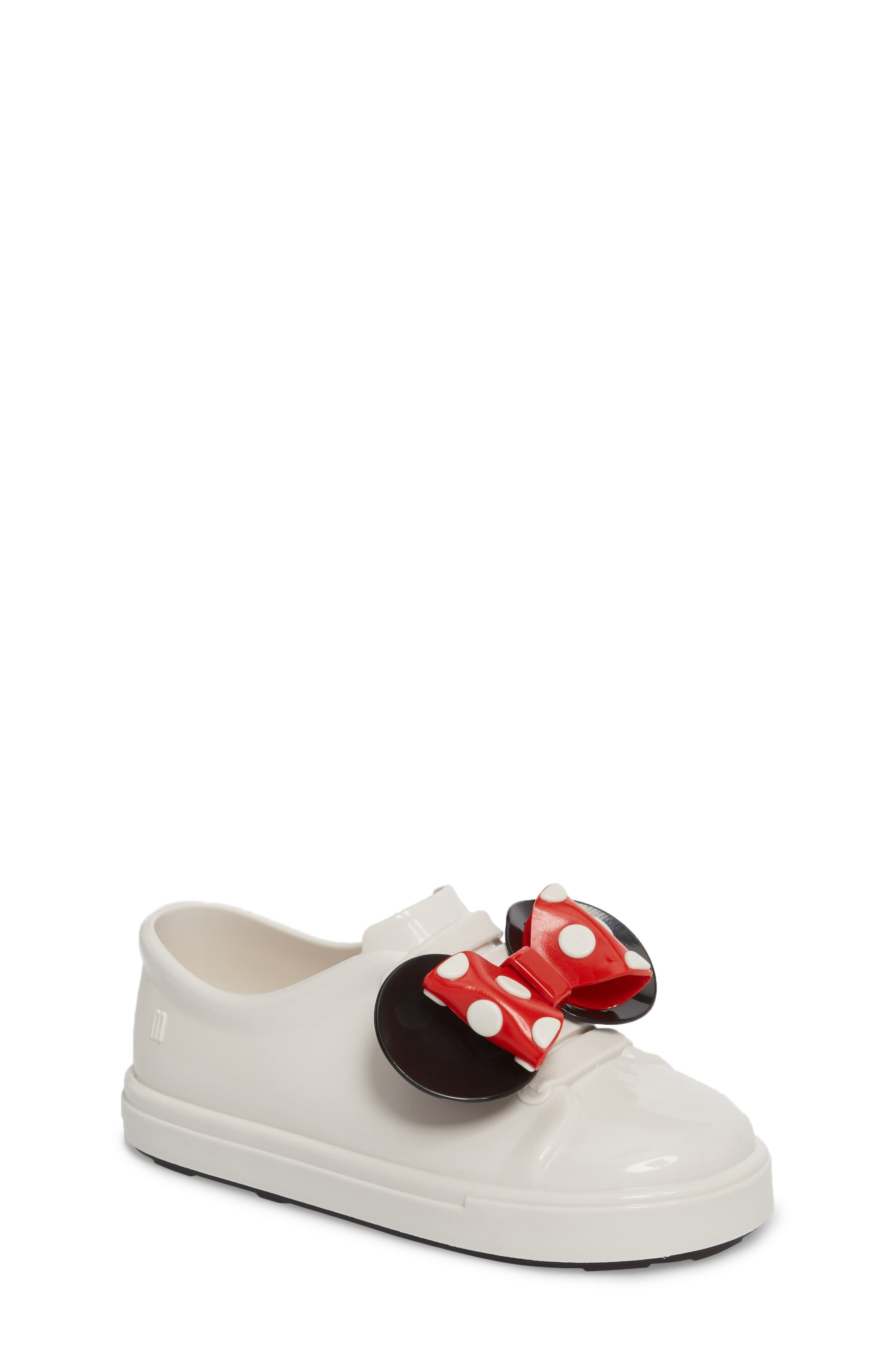Mini Melissa Disney® Be Minnie Slip-On Sneaker (Walker & Toddler)