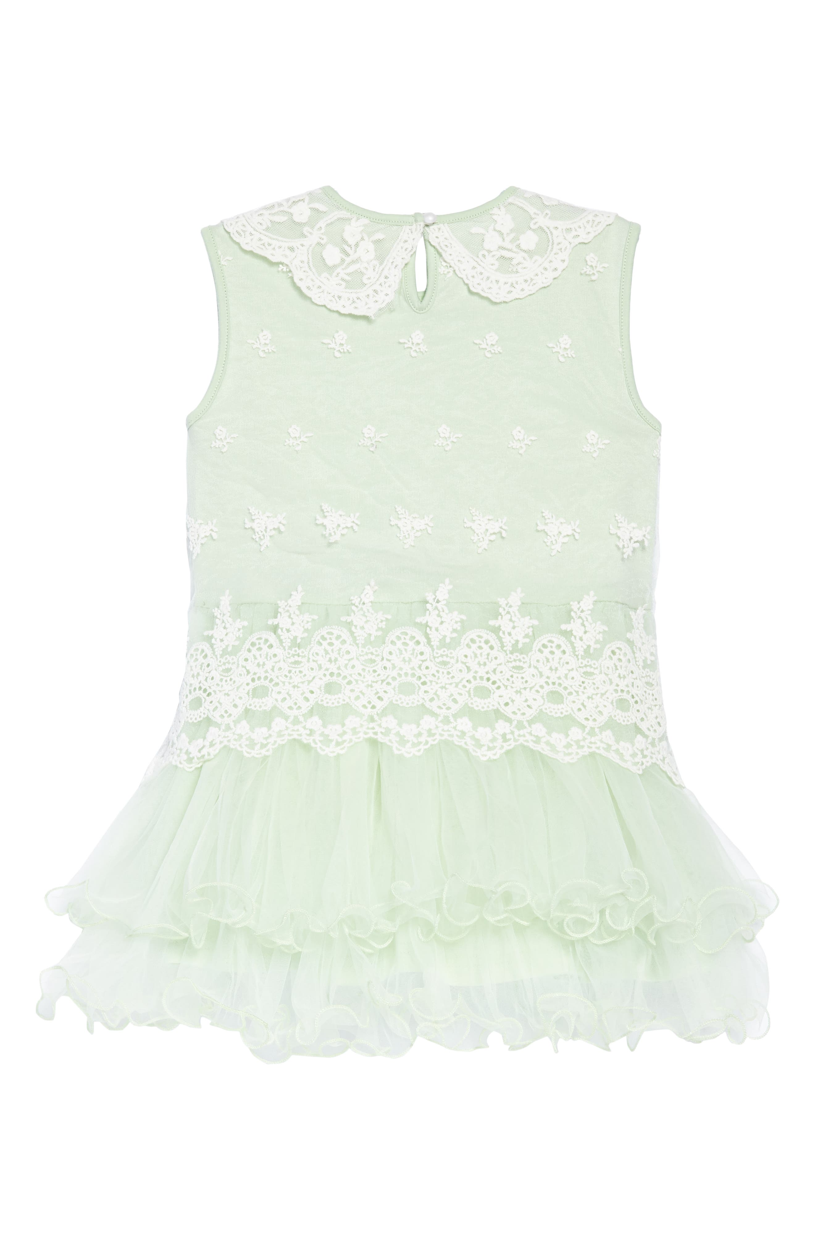 Embroidered Tulle Dress,                             Alternate thumbnail 2, color,                             Mint