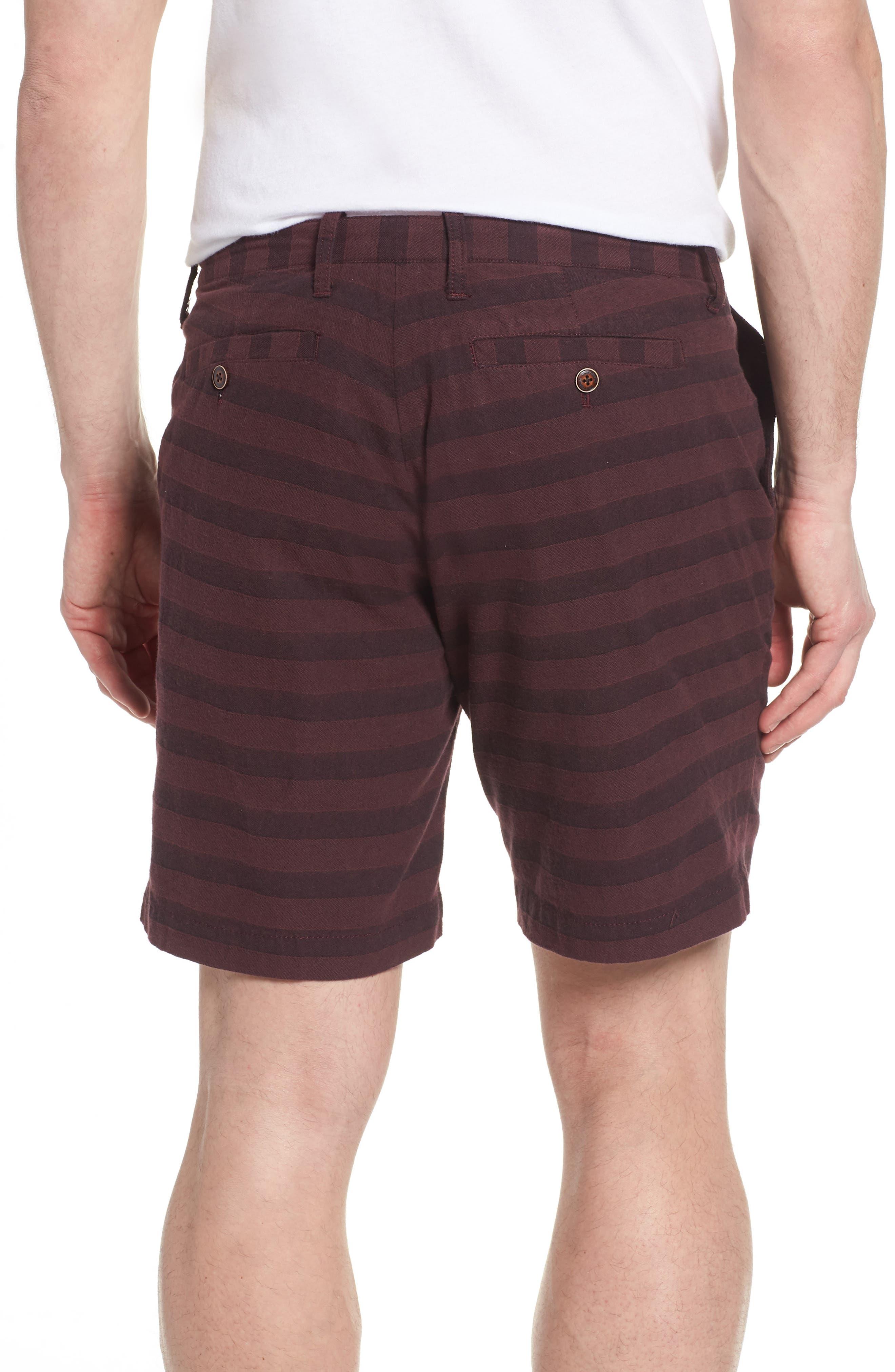 Morgan Stripe Bermuda Shorts,                             Alternate thumbnail 2, color,                             Burgundy
