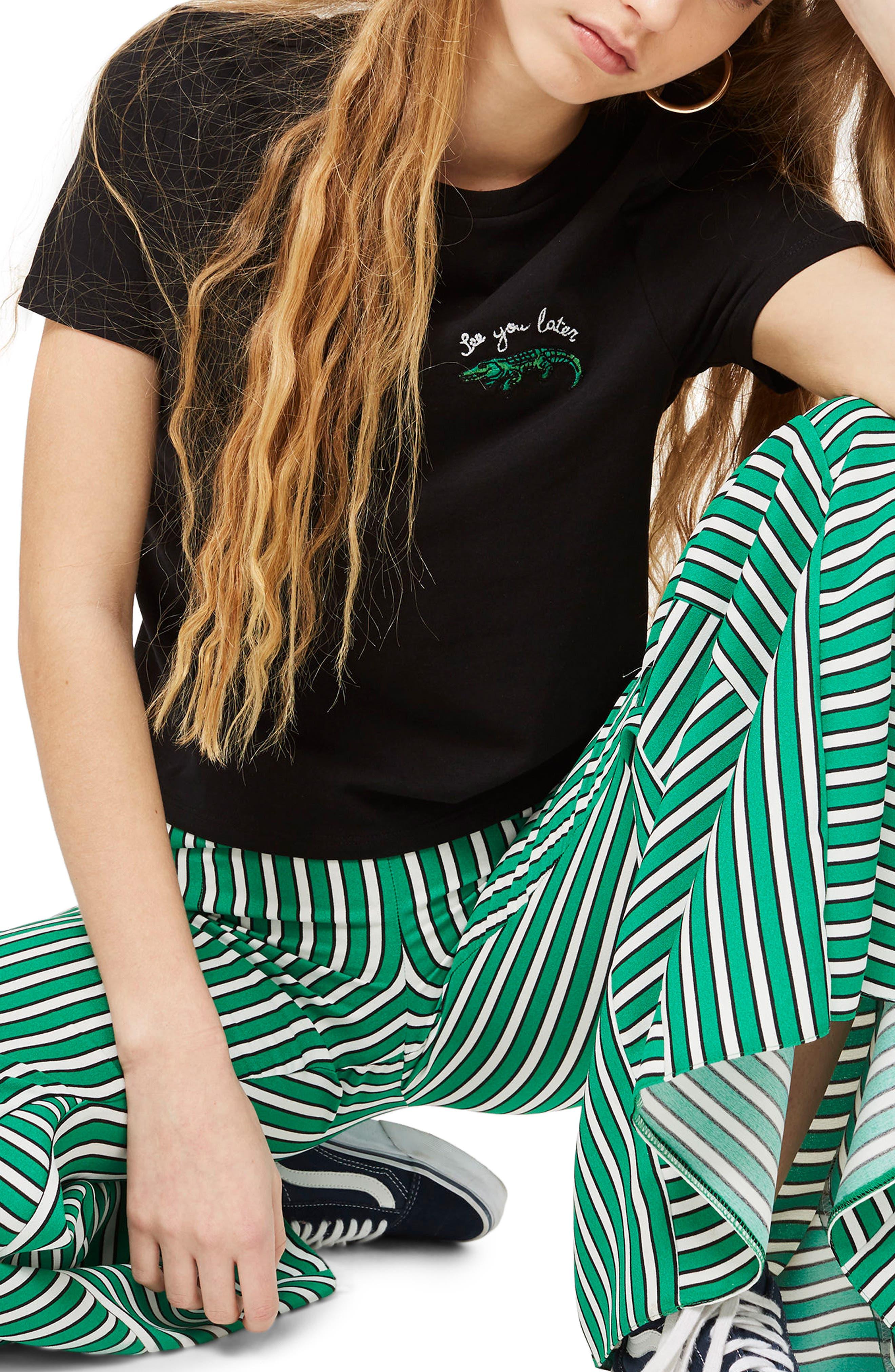 Alligator T-Shirt,                             Main thumbnail 1, color,                             Black Multi