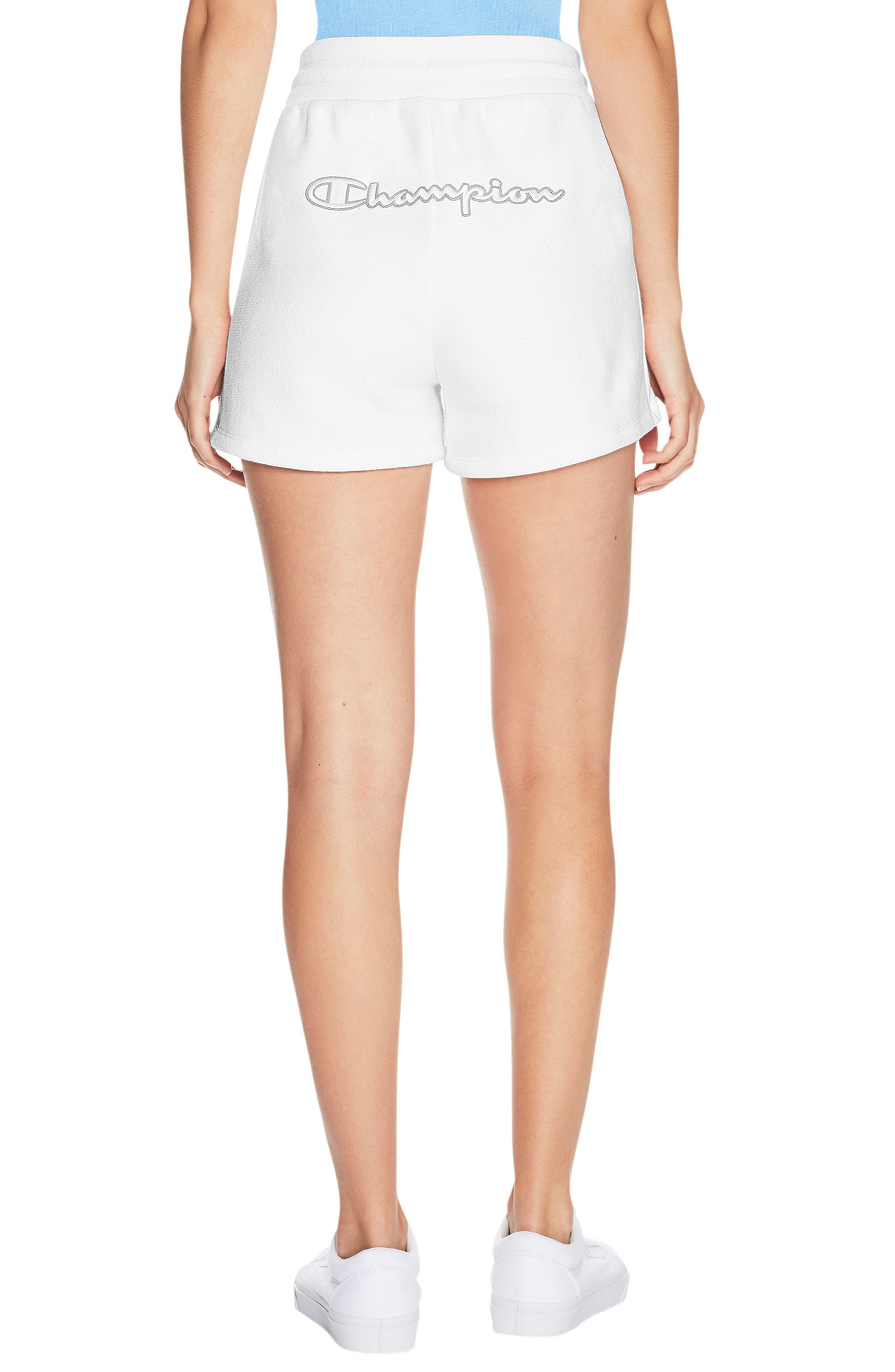 Reverse Weave Shorts,                             Alternate thumbnail 2, color,                             White