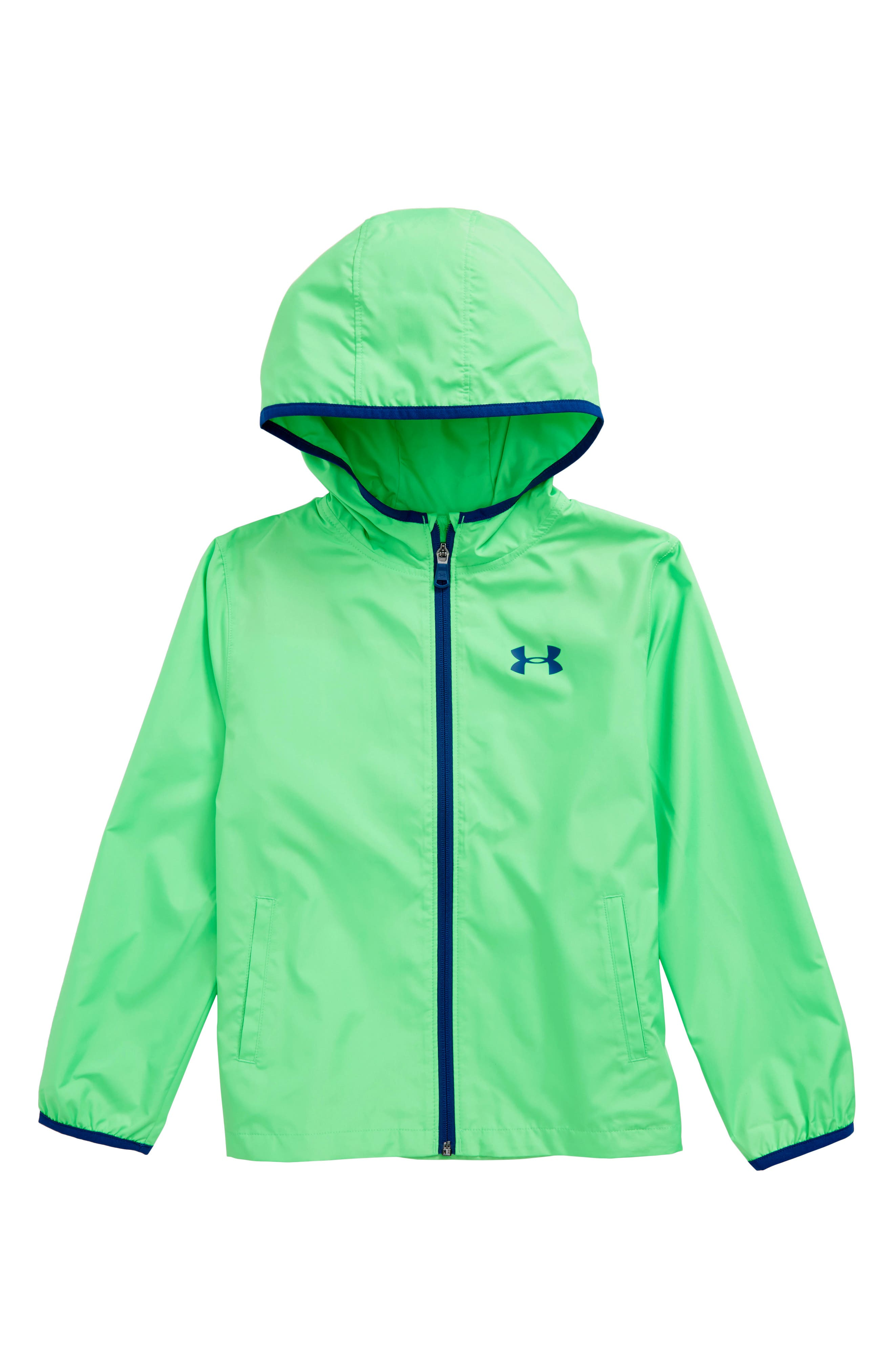 Sackpack Wind & Water Resistant Jacket,                         Main,                         color, Arena Green/ Moroccan Blue