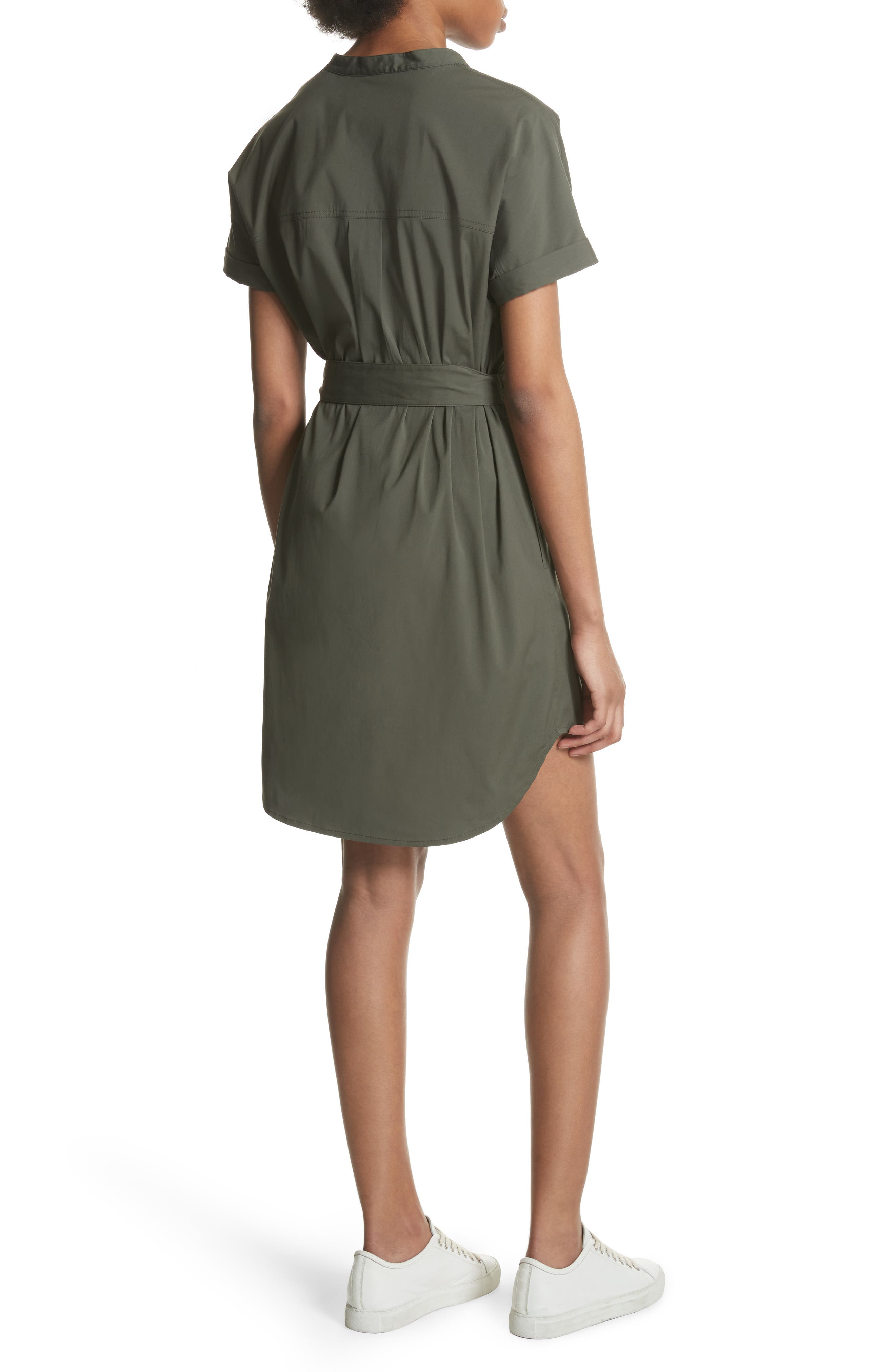 Stretch Cotton Cargo Dress,                             Alternate thumbnail 2, color,                             Wig Bright Faded Army