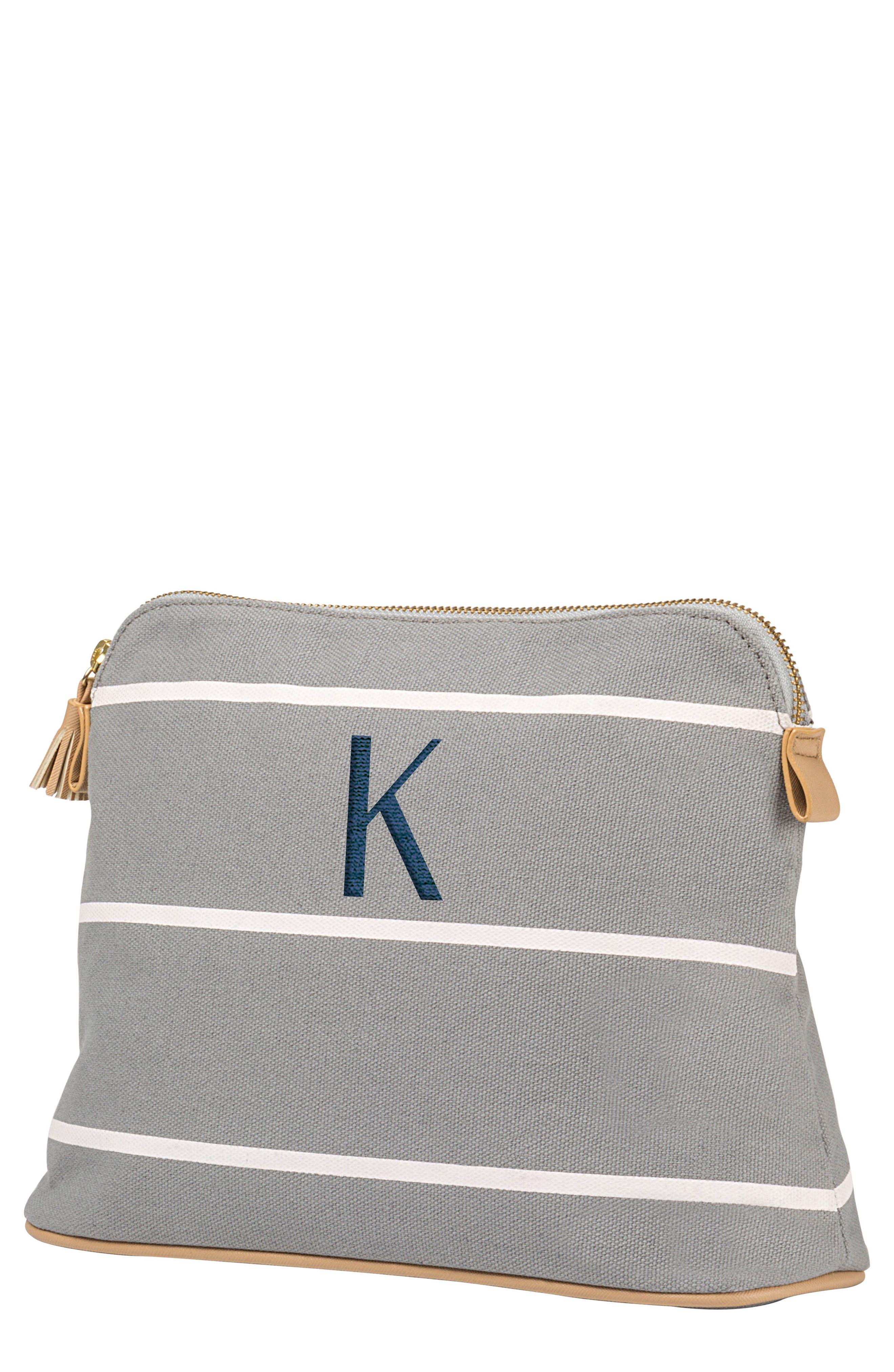 Monogram Cosmetics Bag,                             Main thumbnail 1, color,                             Grey