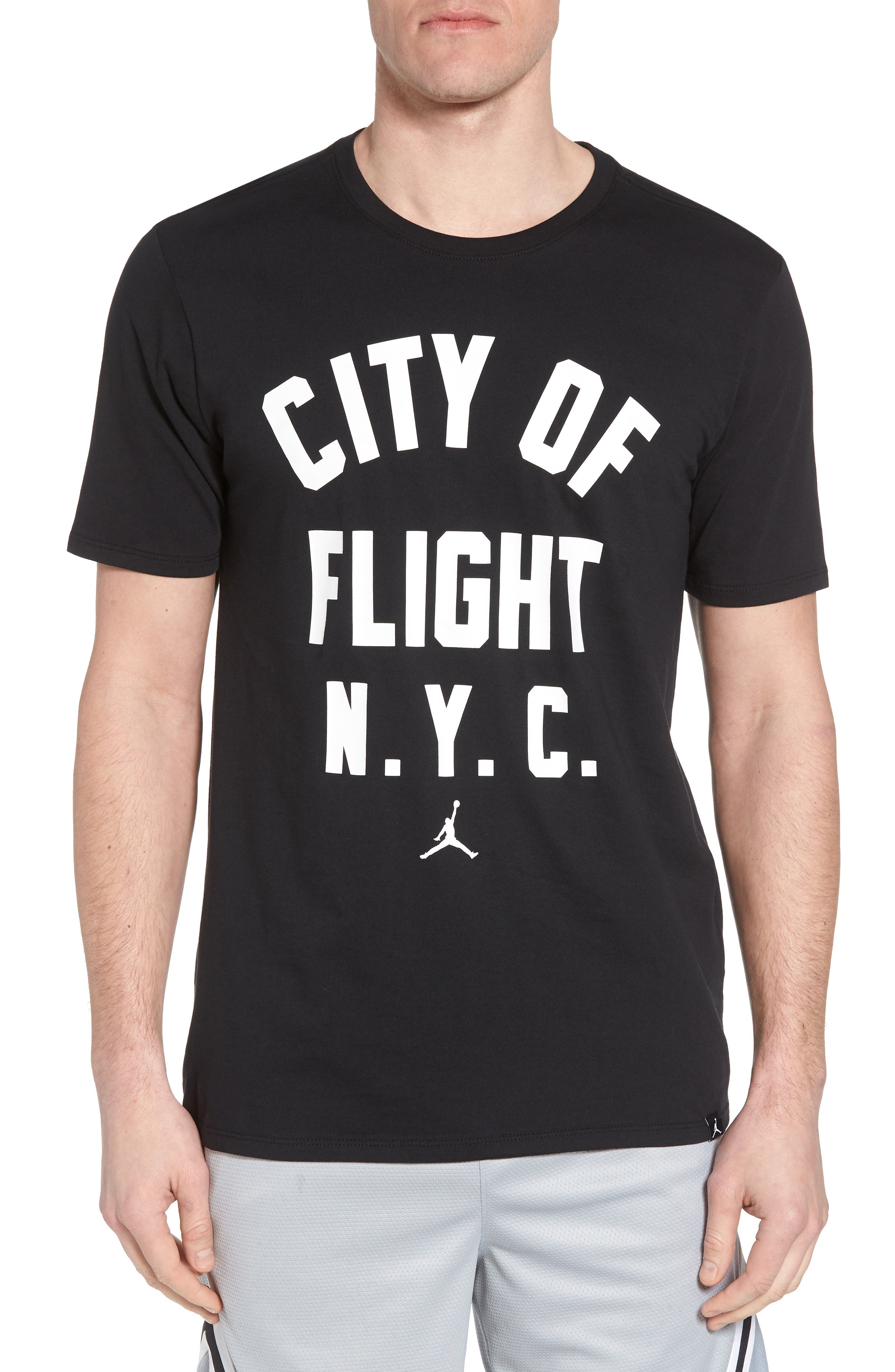 Sportswear City of Flight T-Shirt,                         Main,                         color, Black/ White