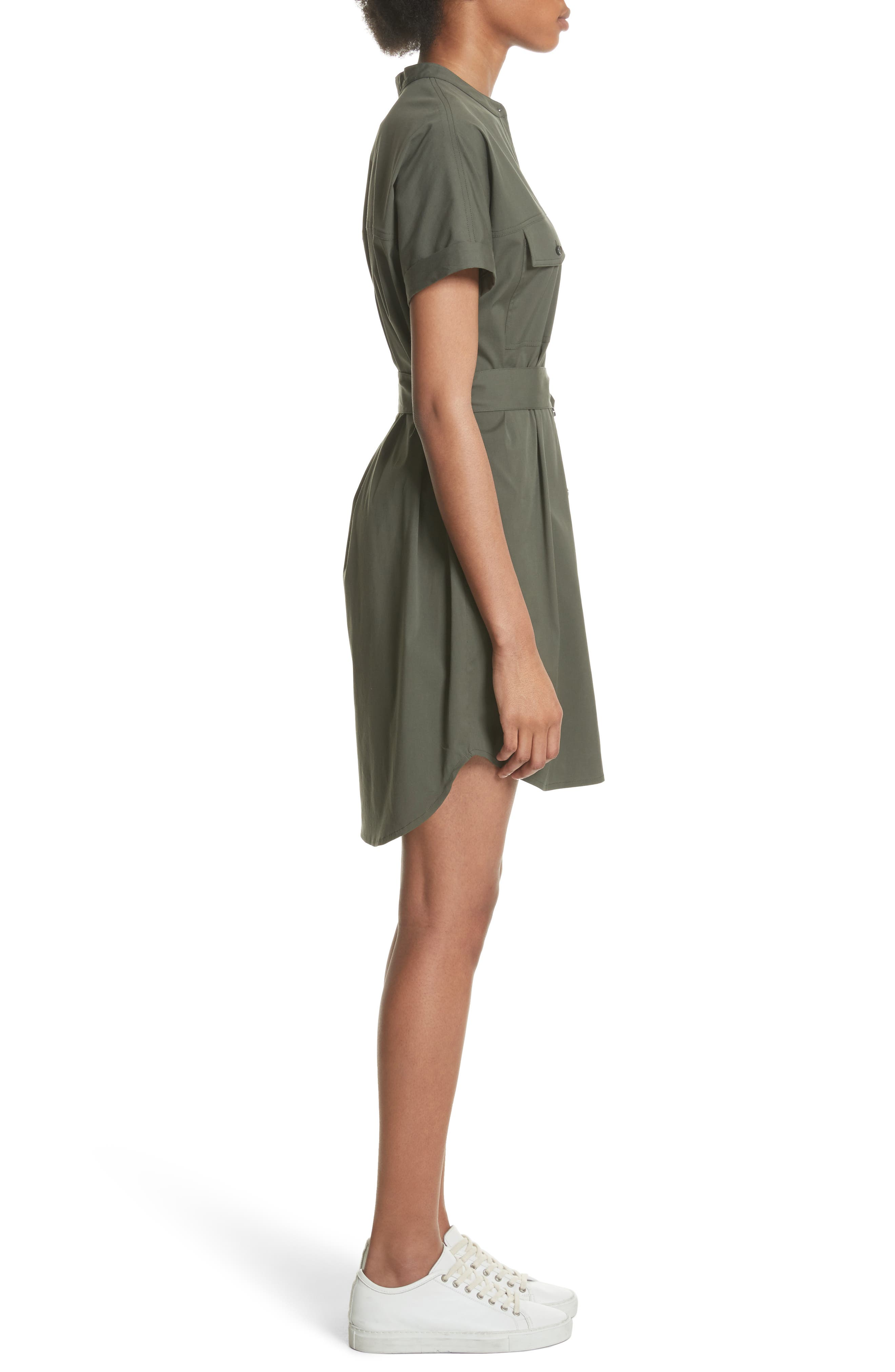 Stretch Cotton Cargo Dress,                             Alternate thumbnail 3, color,                             Wig Bright Faded Army