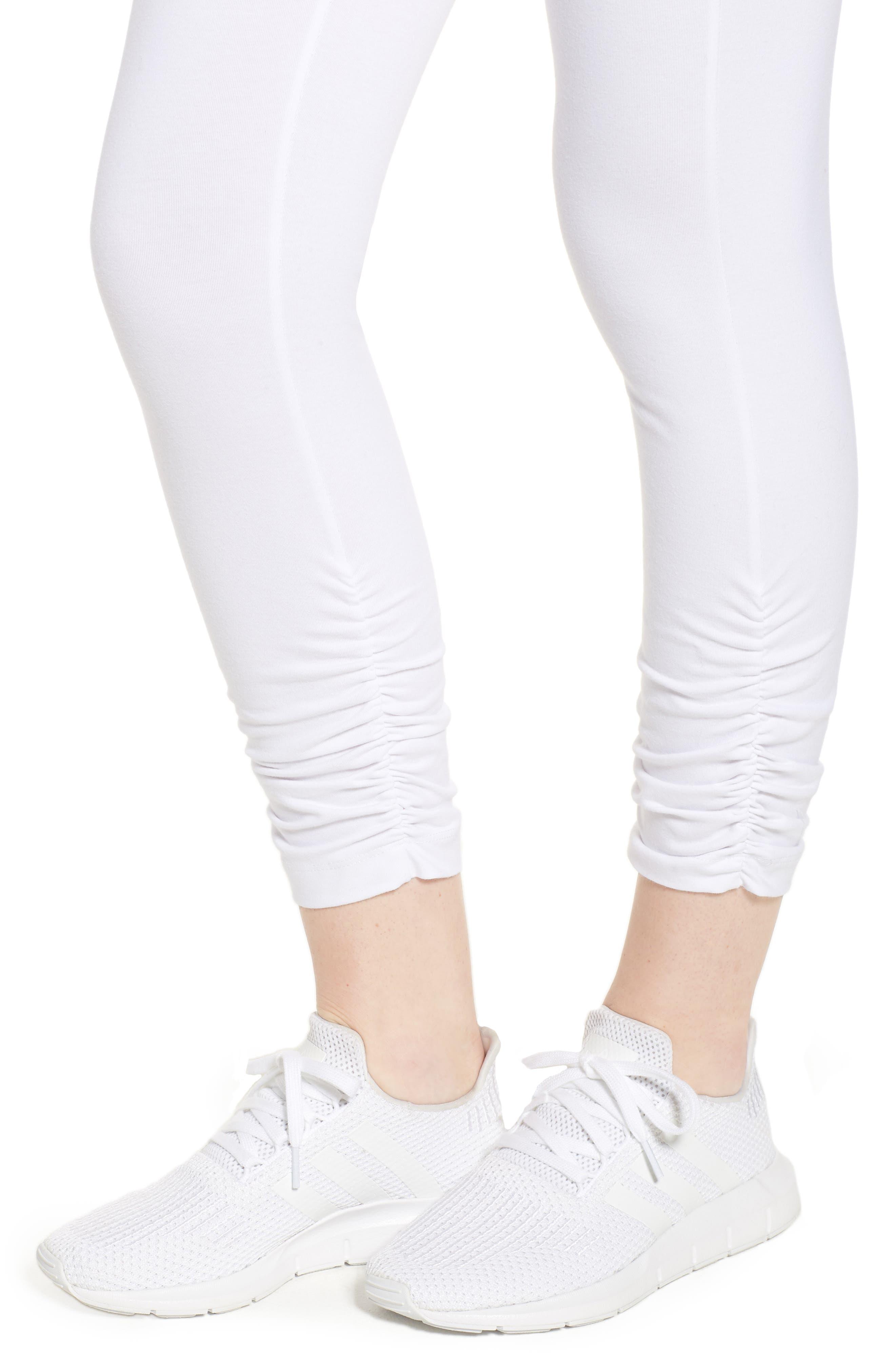 Scrunched Leggings,                             Alternate thumbnail 4, color,                             White