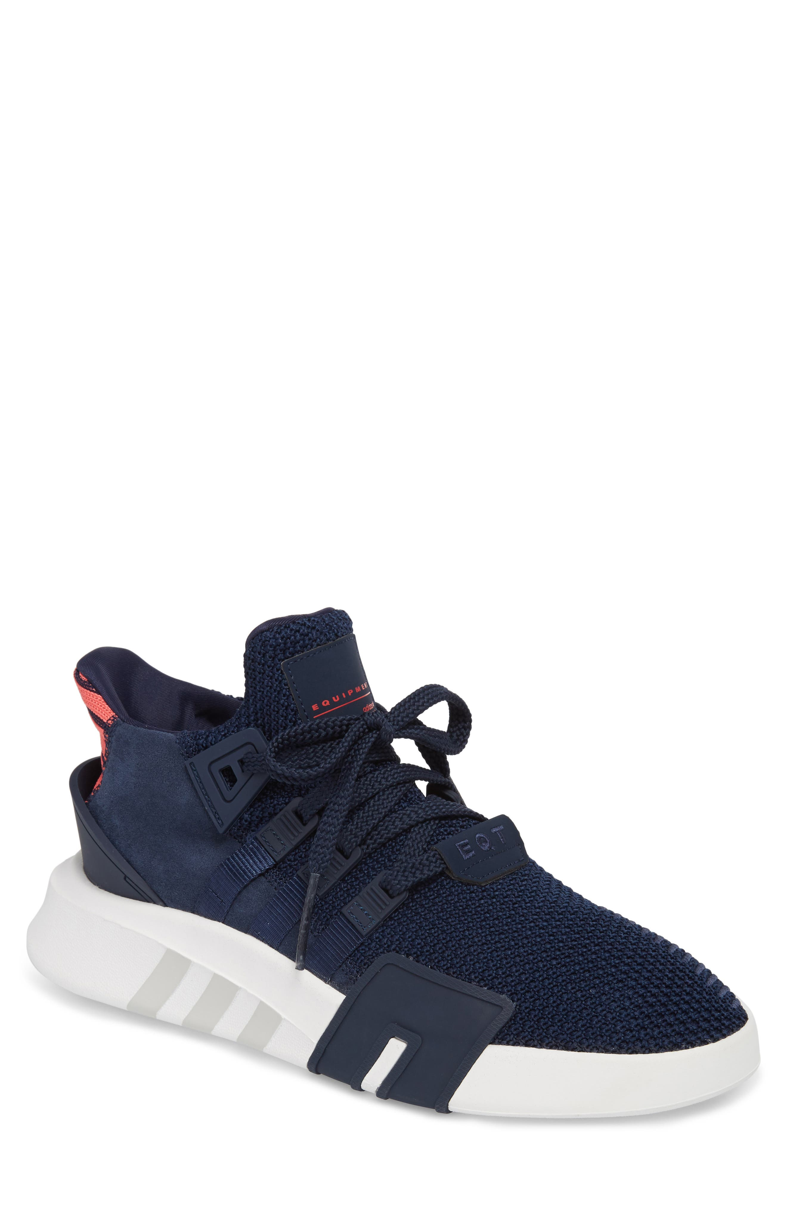 EQT Basketball ADV Sneaker,                             Main thumbnail 1, color,                             Collegiate Navy/ Real Coral