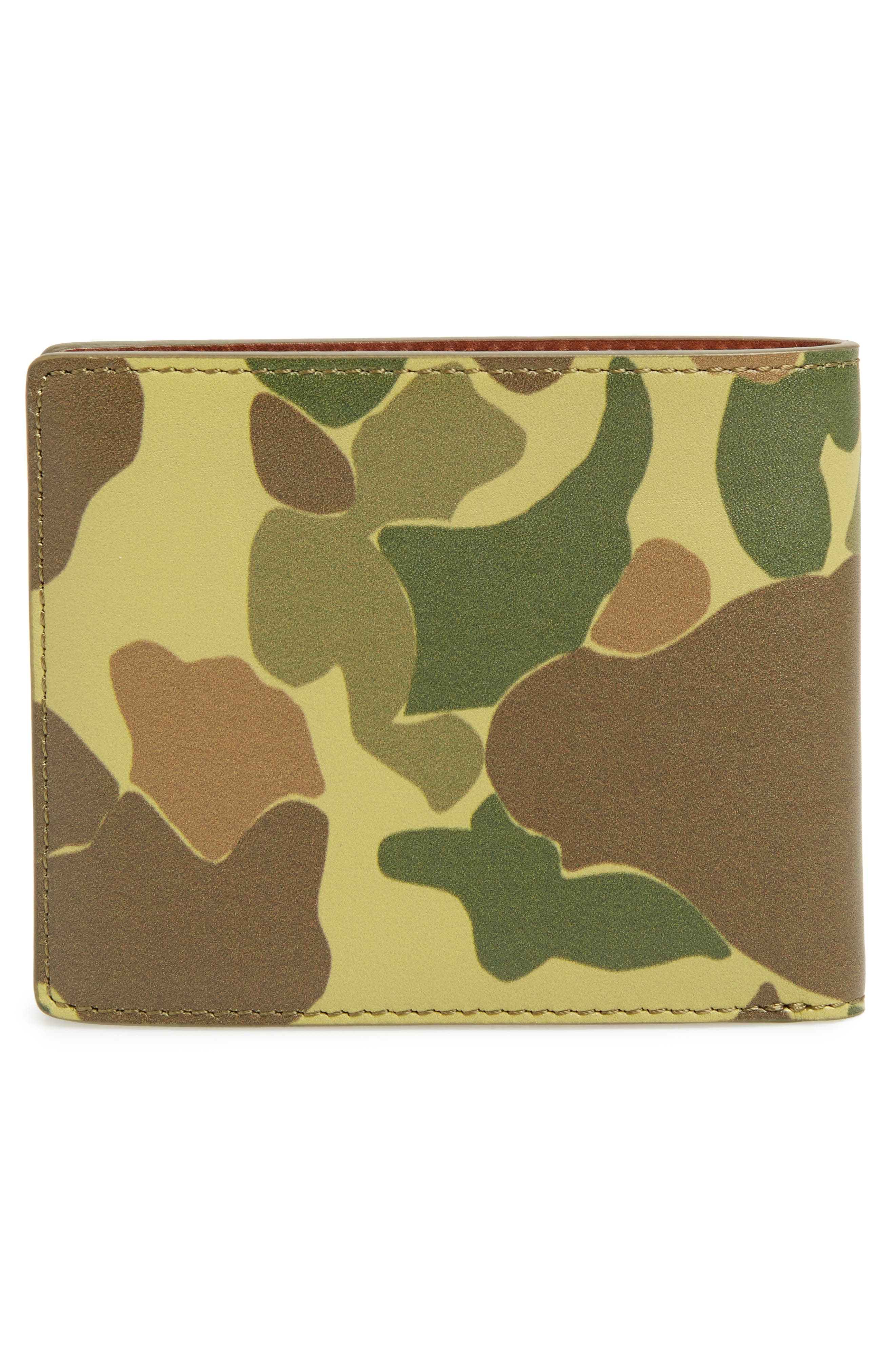 Hampshire Leather Bifold Wallet,                             Alternate thumbnail 3, color,                             Camo