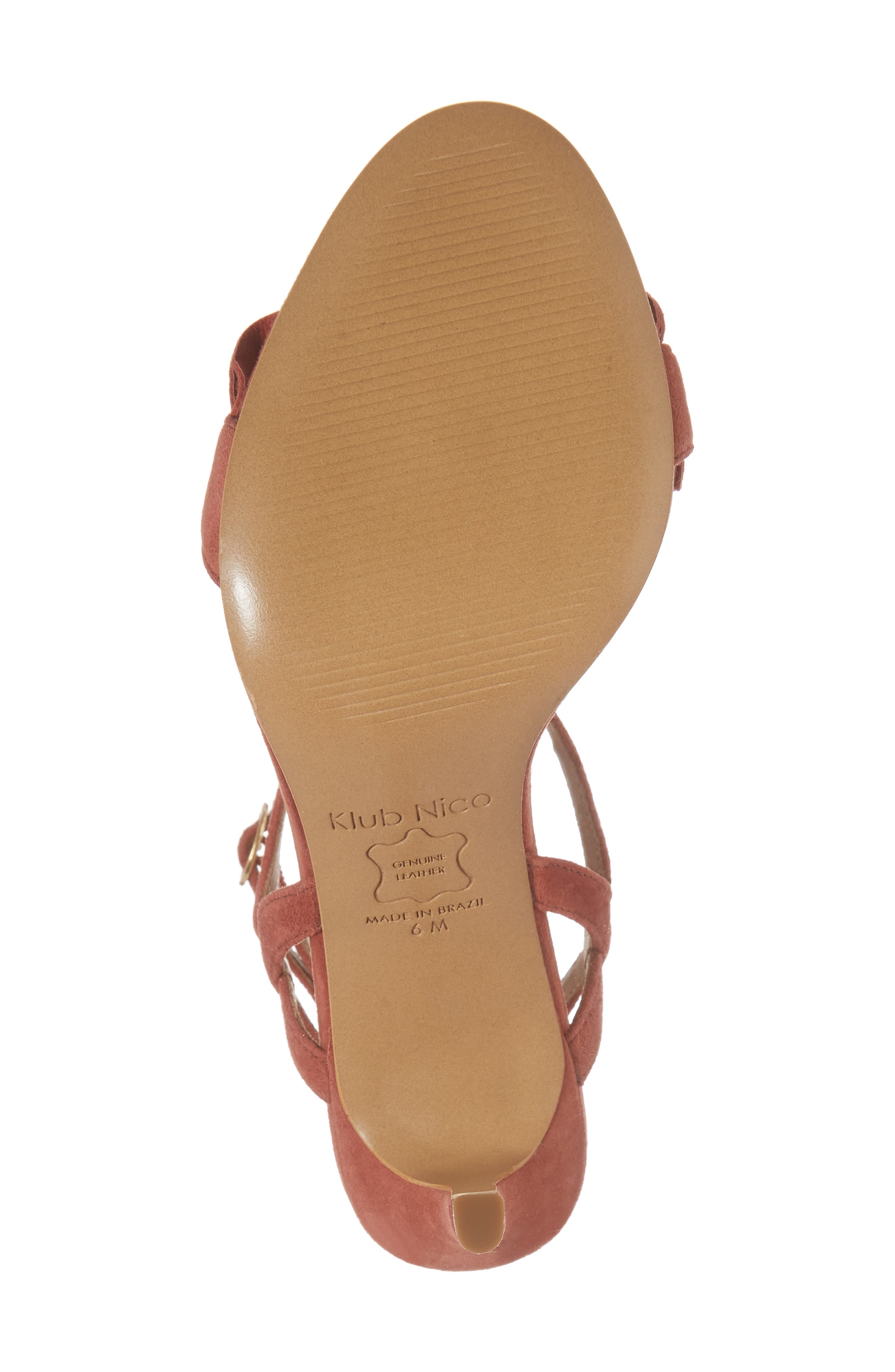 Ansley Sandal,                             Alternate thumbnail 6, color,                             Spice Suede