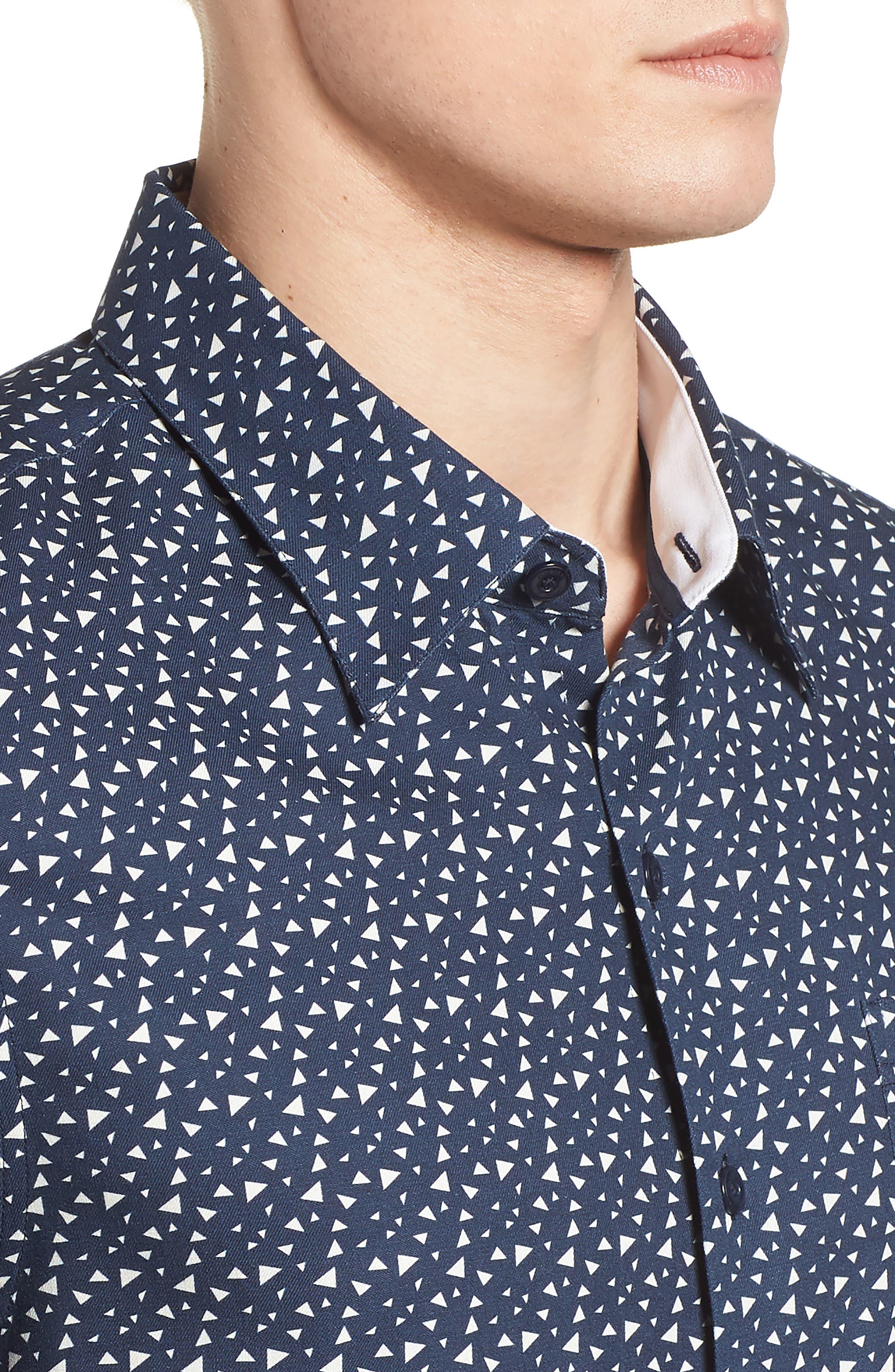 Bermuda Triangle Camp Shirt,                             Alternate thumbnail 4, color,                             Nat Blue