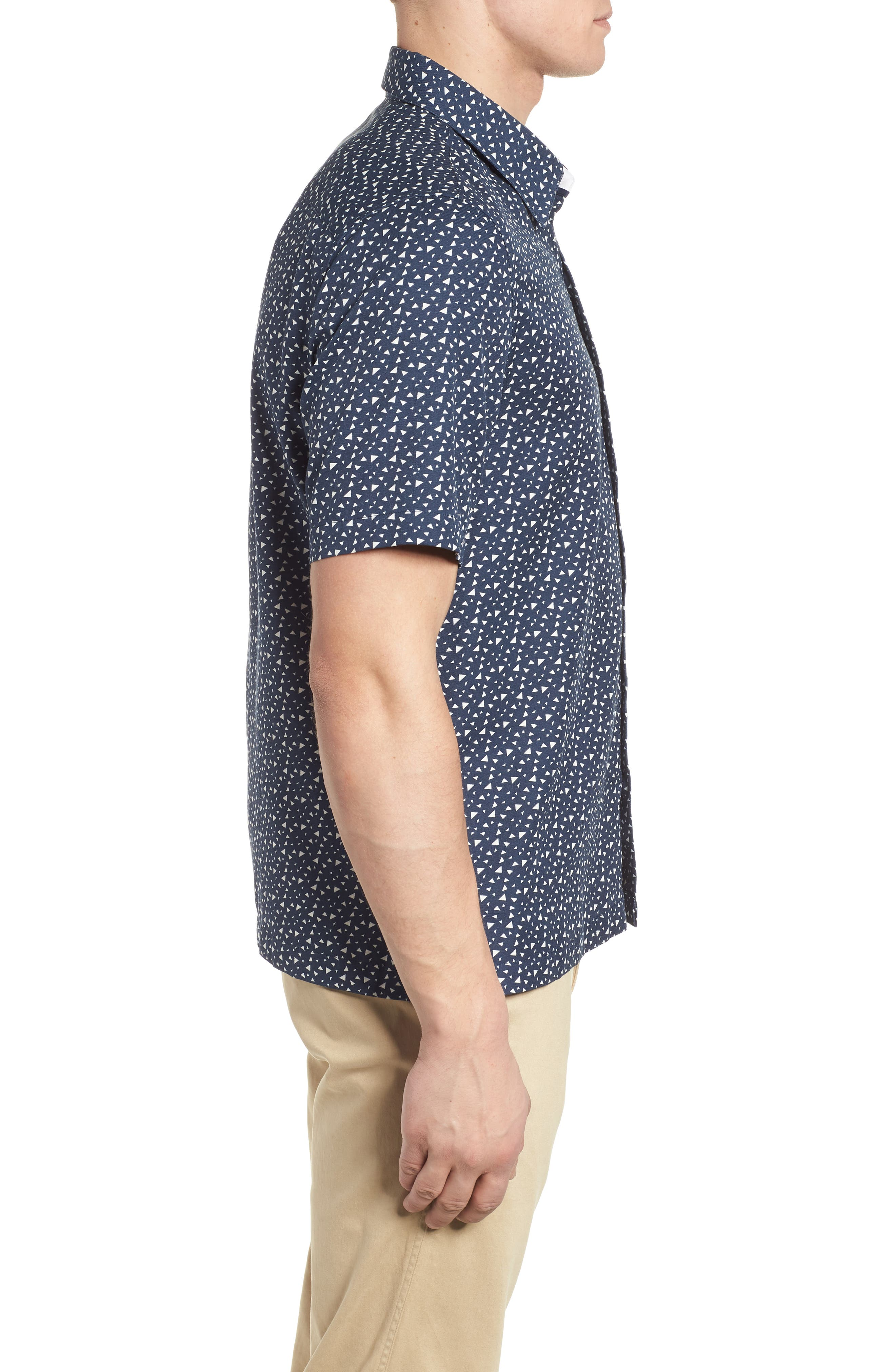 Bermuda Triangle Camp Shirt,                             Alternate thumbnail 3, color,                             Nat Blue