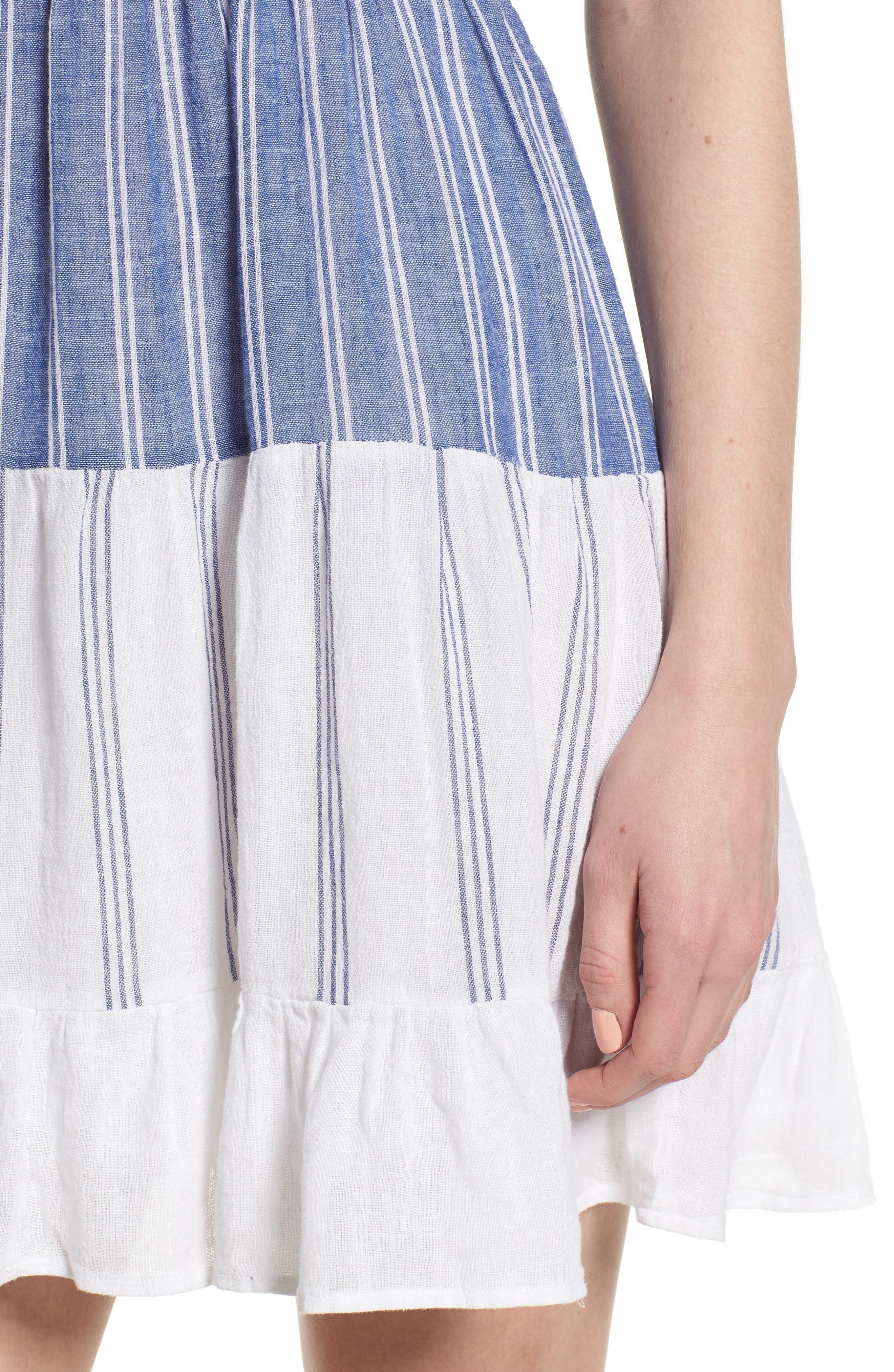 Mattie Dress,                             Alternate thumbnail 4, color,                             Mixed Blues Stripe