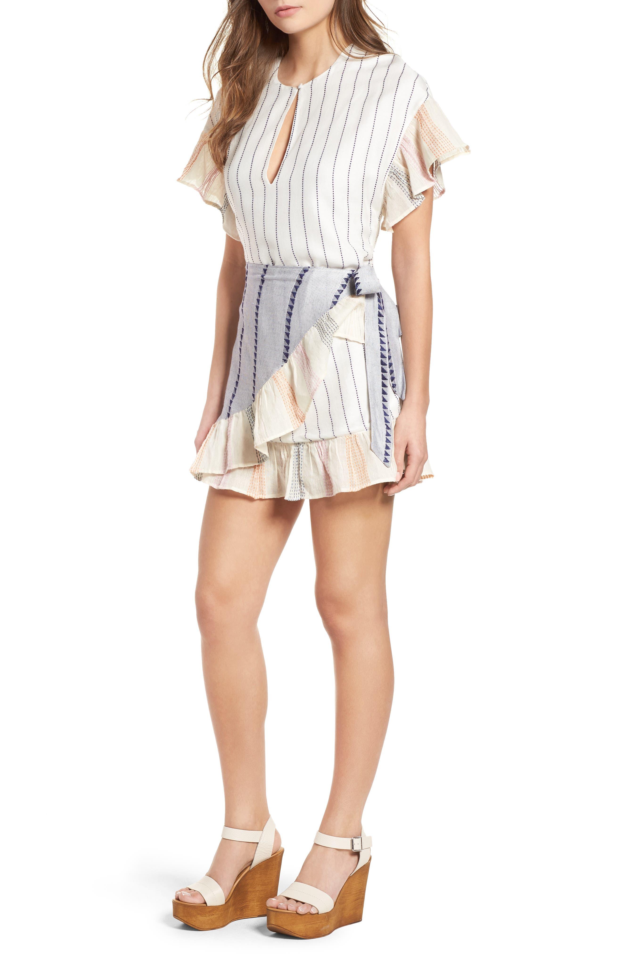 Jenny Minidress,                         Main,                         color, Calamar Stripe
