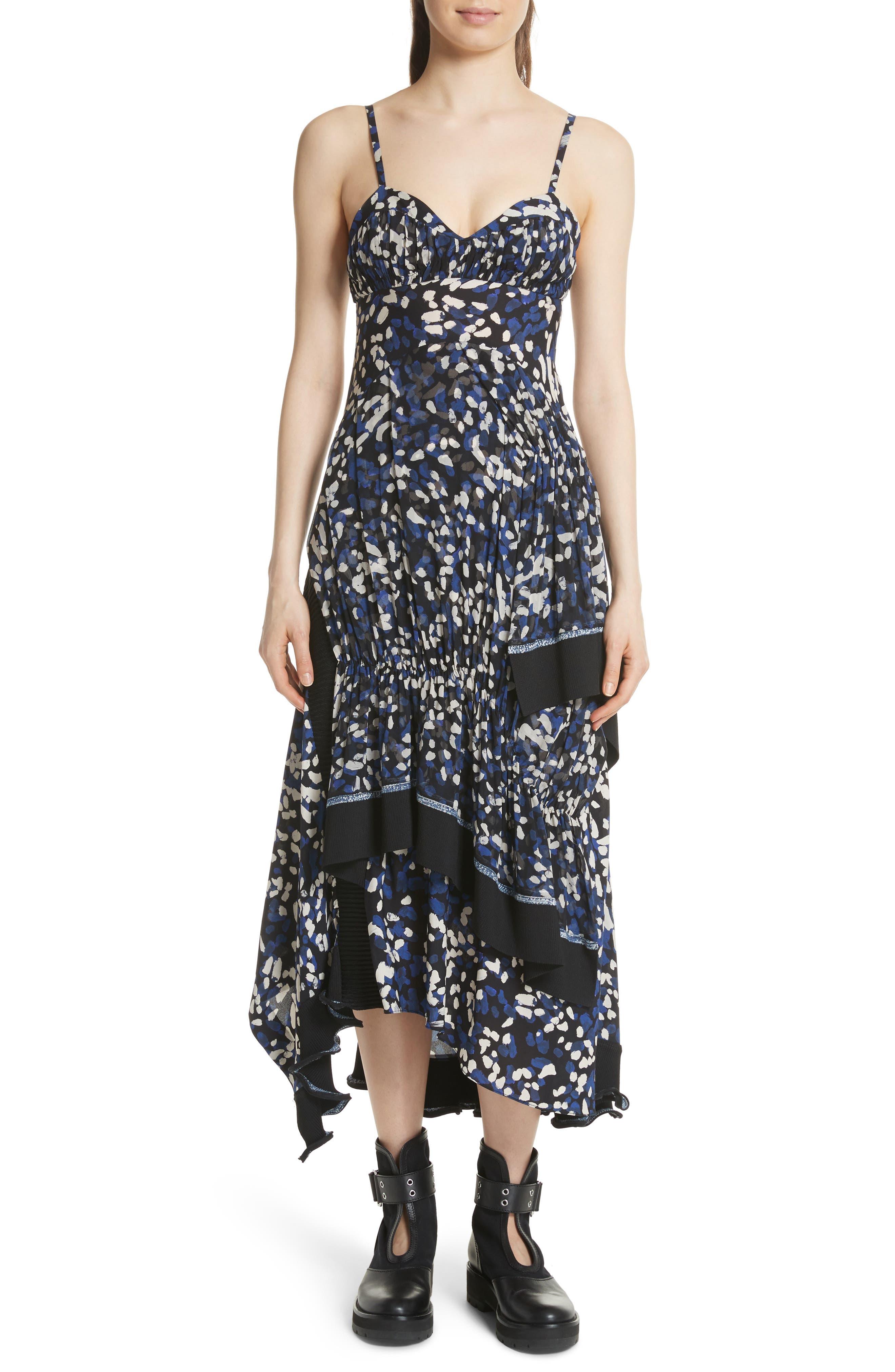 3.1 Phillip Lim Painted Dot Silk Midi Dress