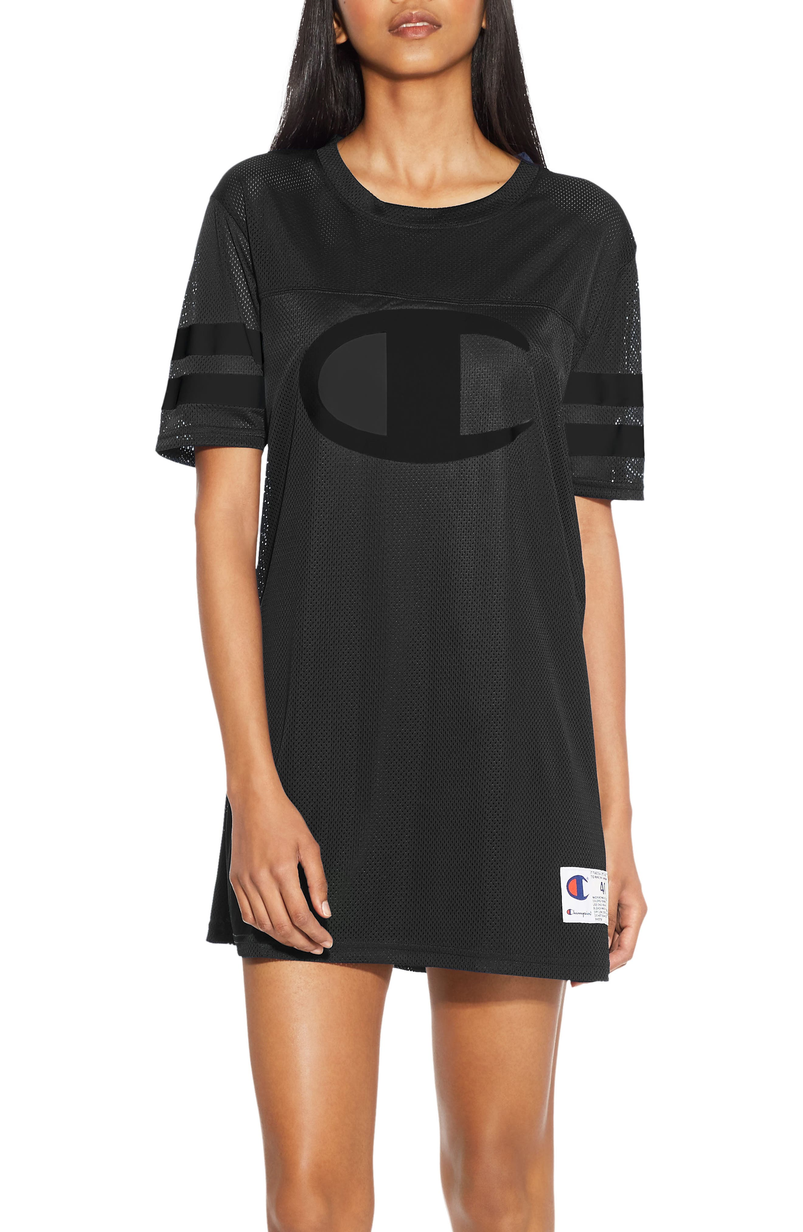 Life<sup>®</sup> Mesh T-Shirt Dress,                         Main,                         color, Black