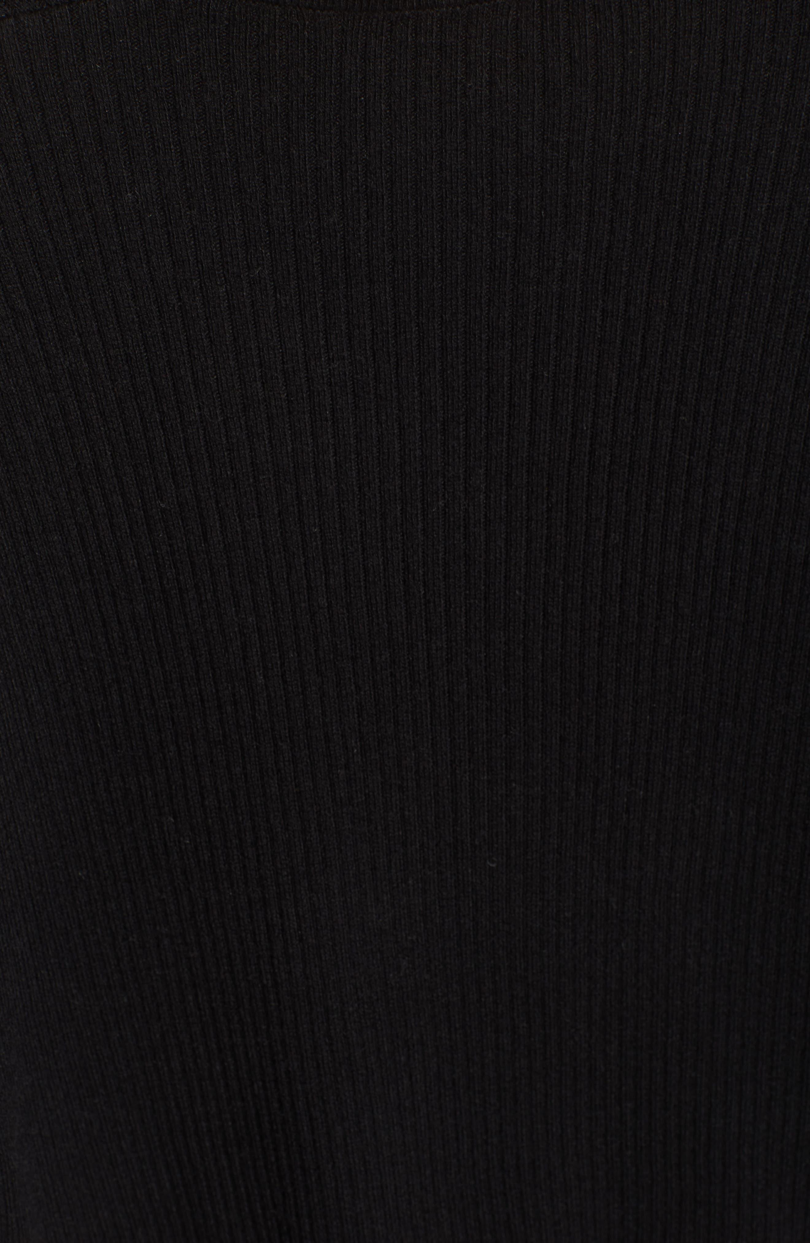 Rib Wrap Sweater,                             Alternate thumbnail 6, color,                             Black