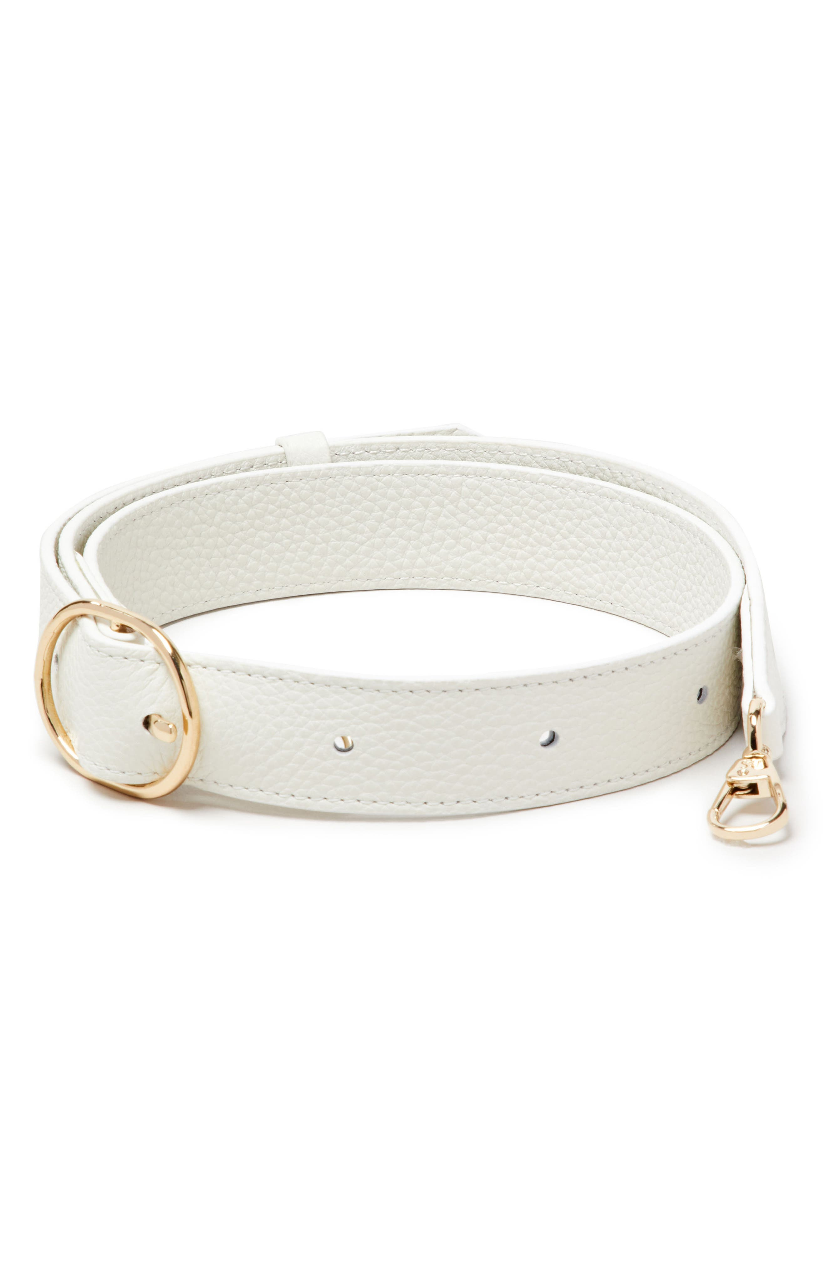 Leather Wide Fanny Strap,                             Main thumbnail 1, color,                             Lily
