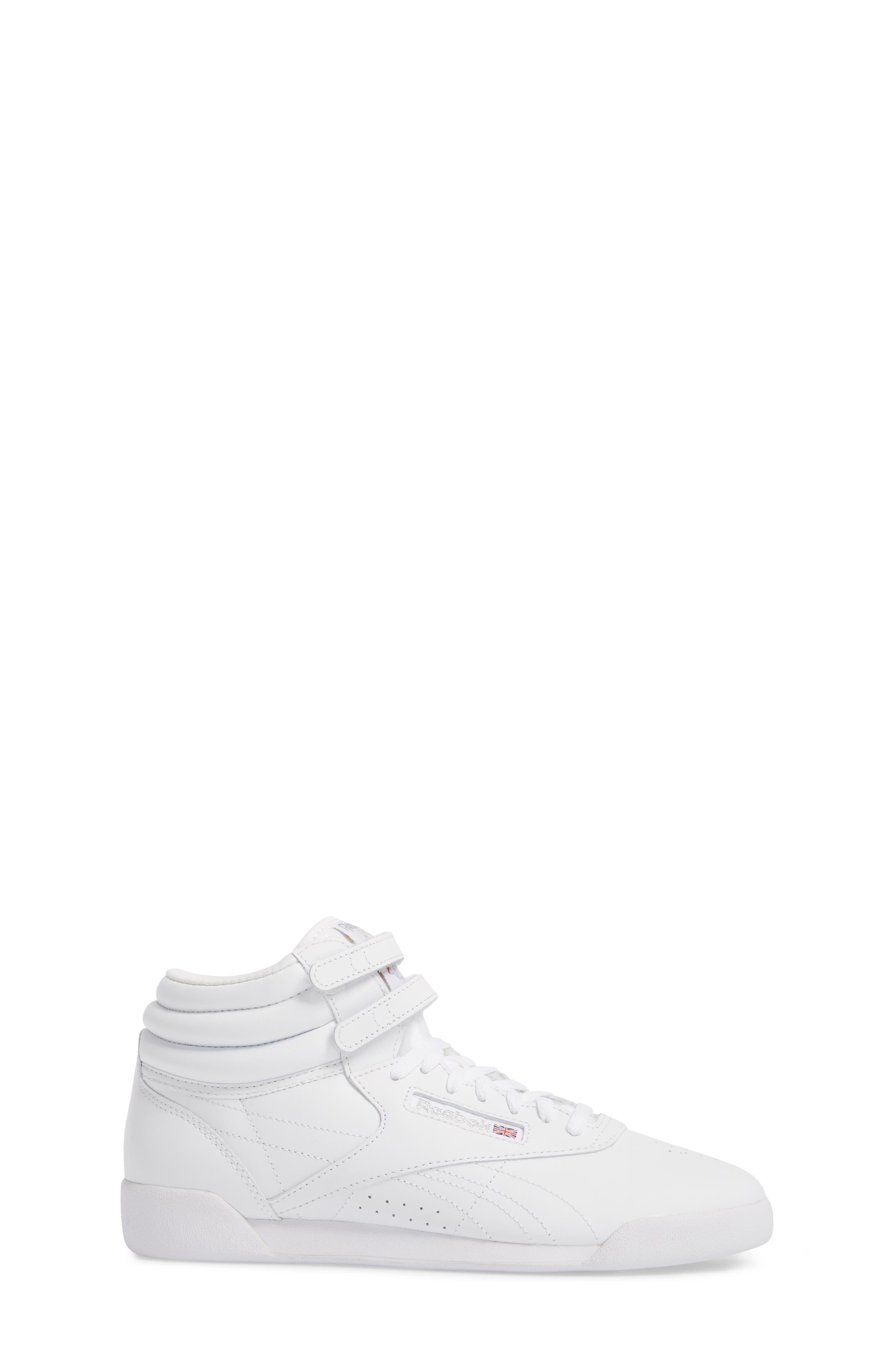 Freestyle Hi Sneaker,                             Alternate thumbnail 3, color,                             White/ Silver