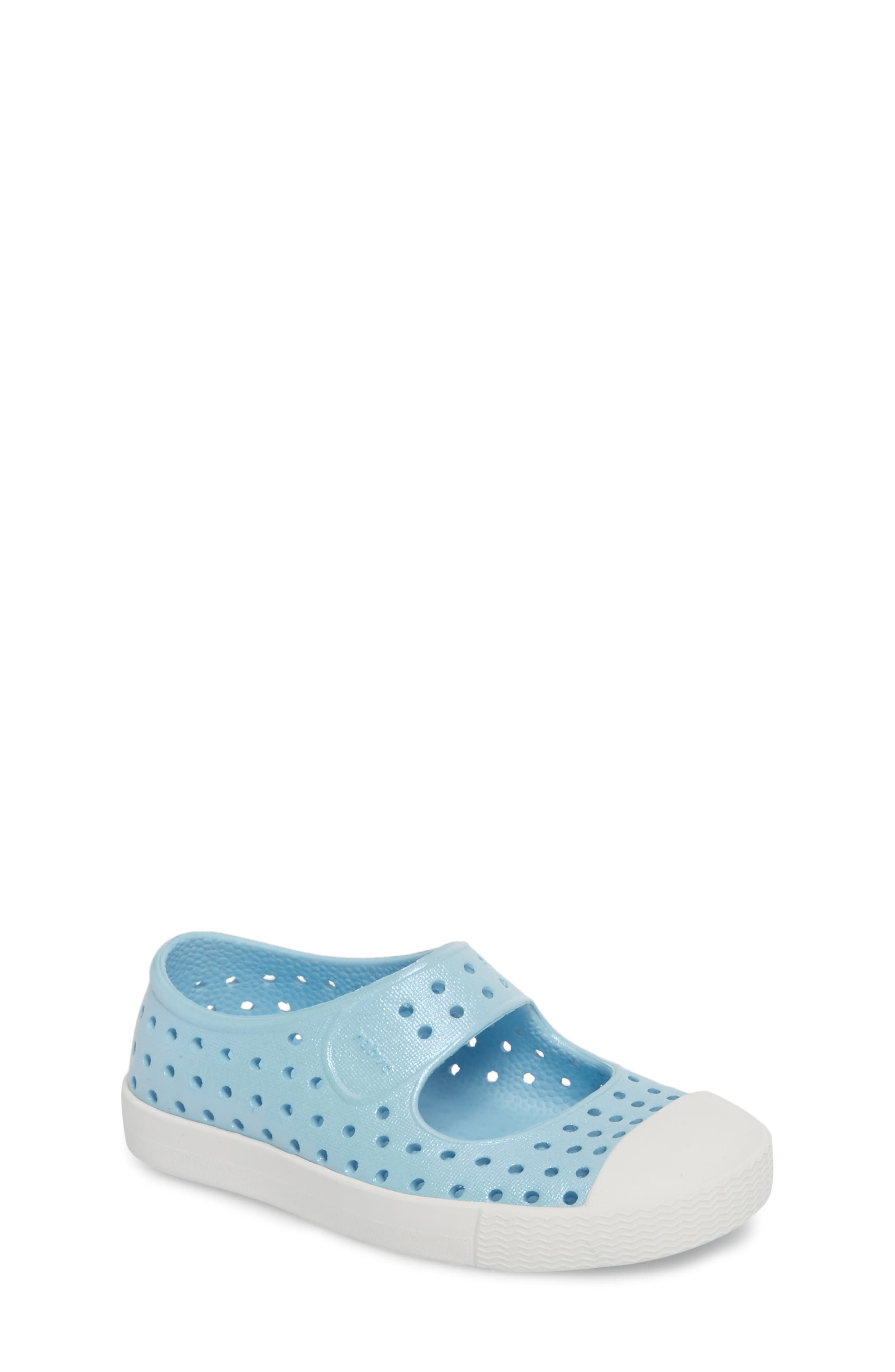 Juniper Perforated Mary Jane,                             Main thumbnail 1, color,                             Sky Blue/ White/ Galaxy