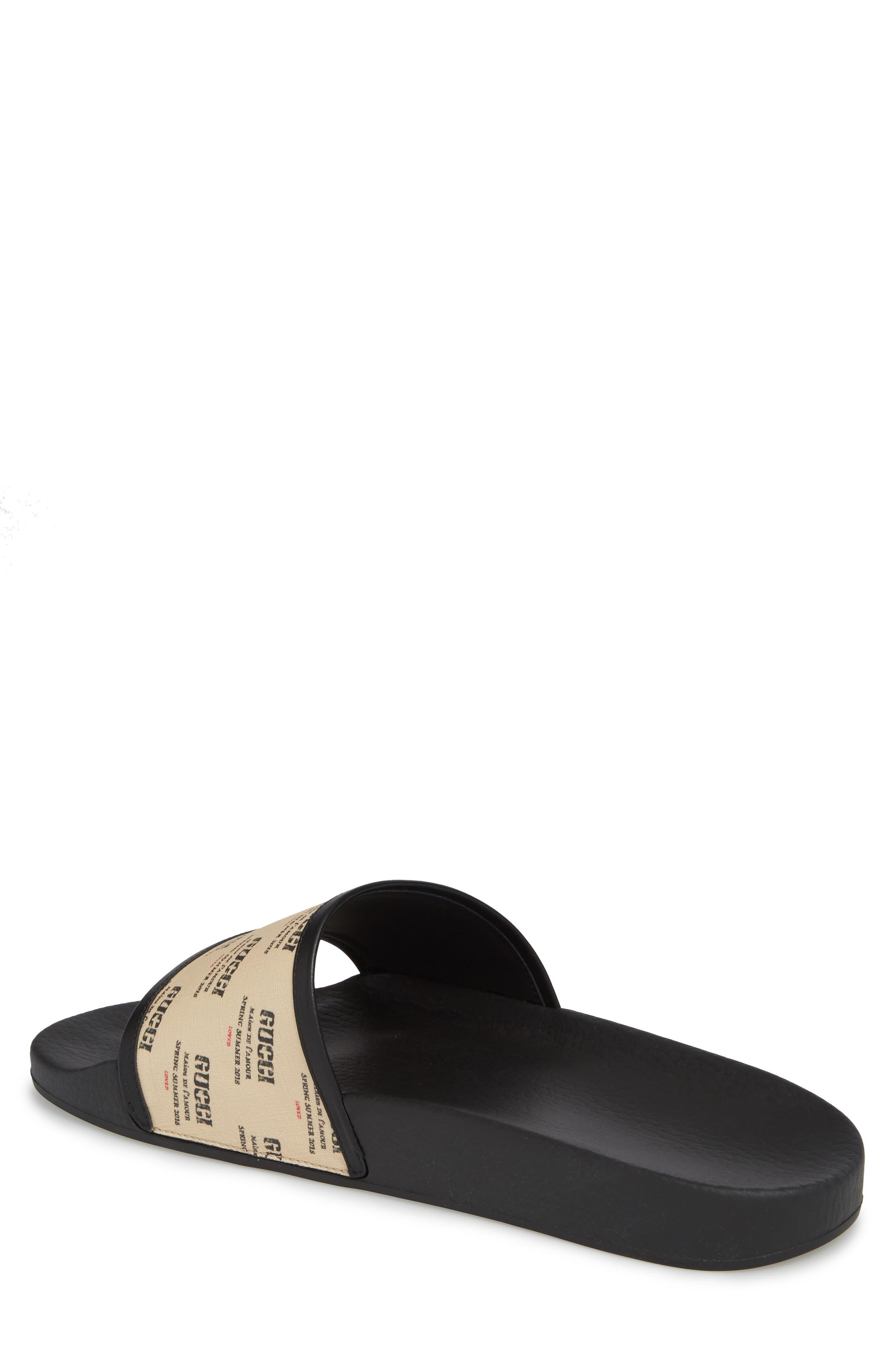 Invite Slide Sandal,                             Alternate thumbnail 2, color,                             Black Patino
