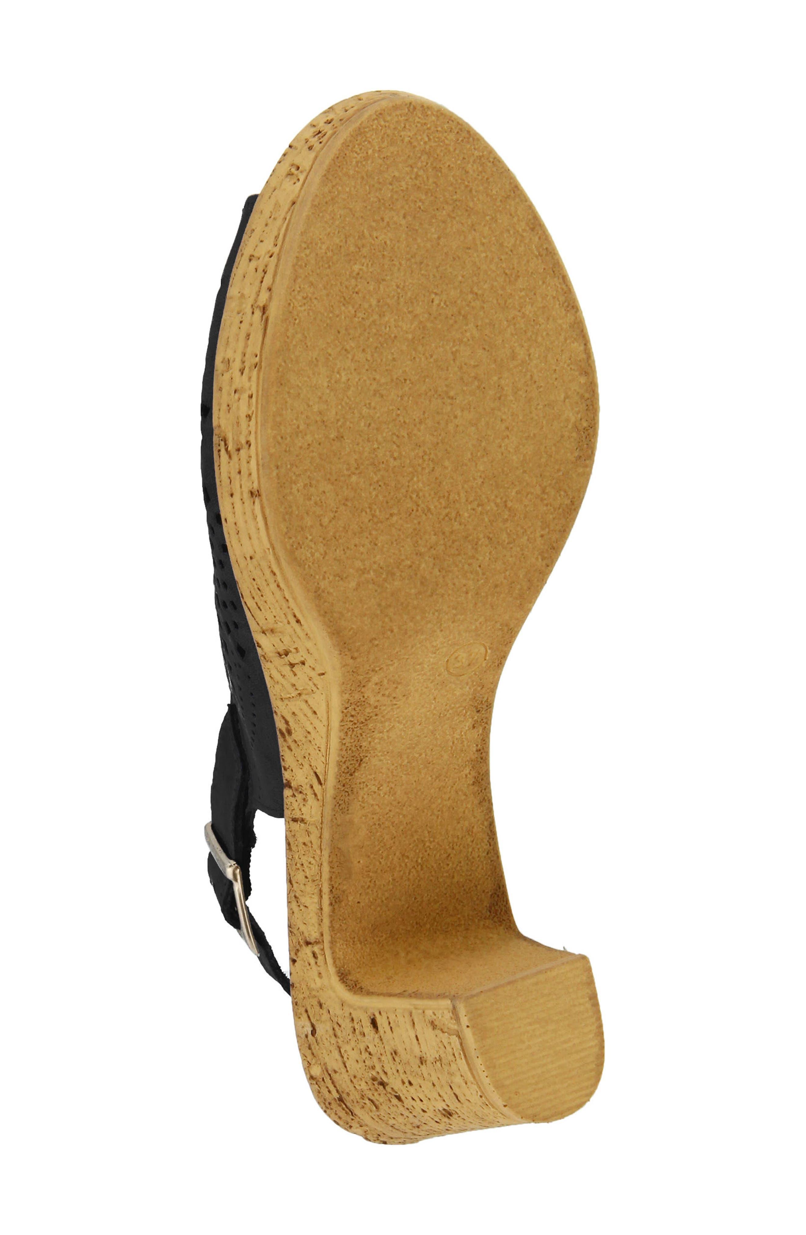 Liberty Platform Sandal,                             Alternate thumbnail 5, color,                             Black Leather