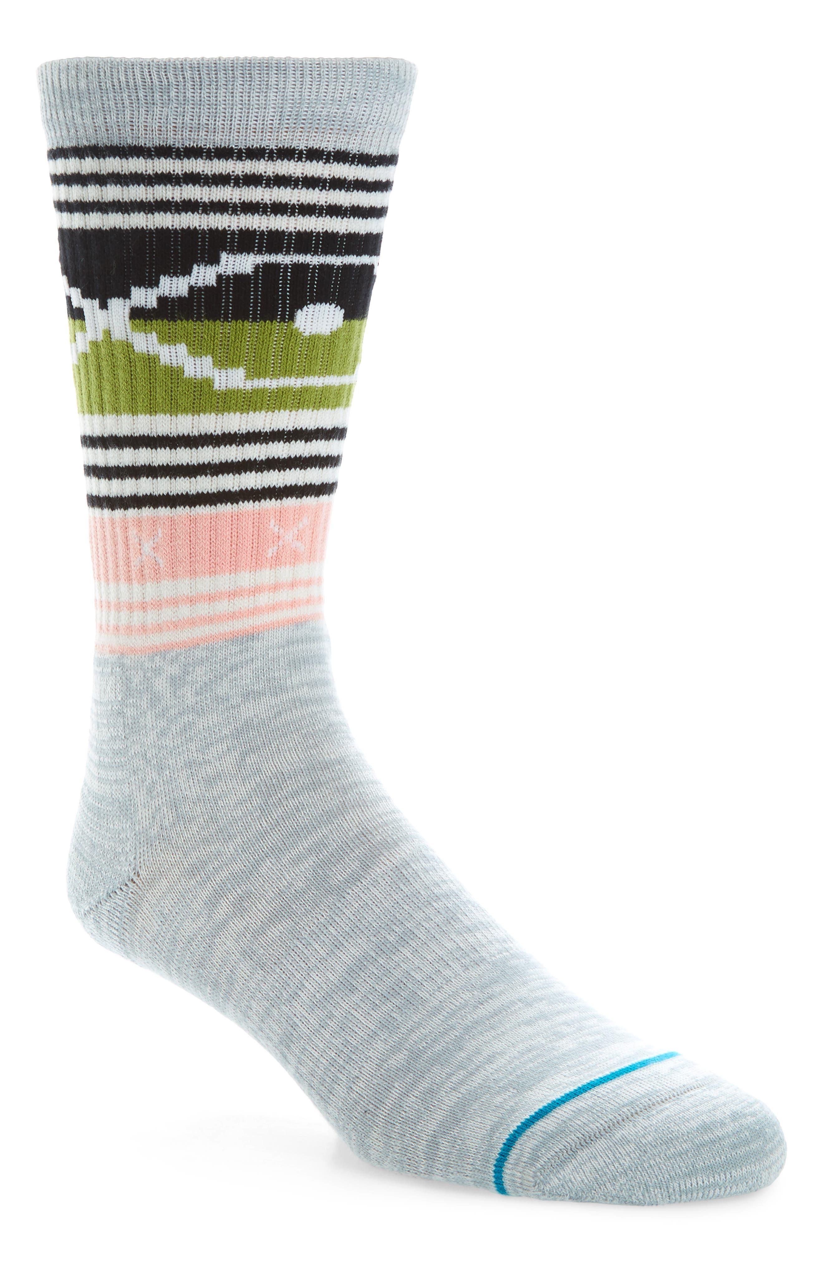 Harries Crew Socks,                         Main,                         color, Grey