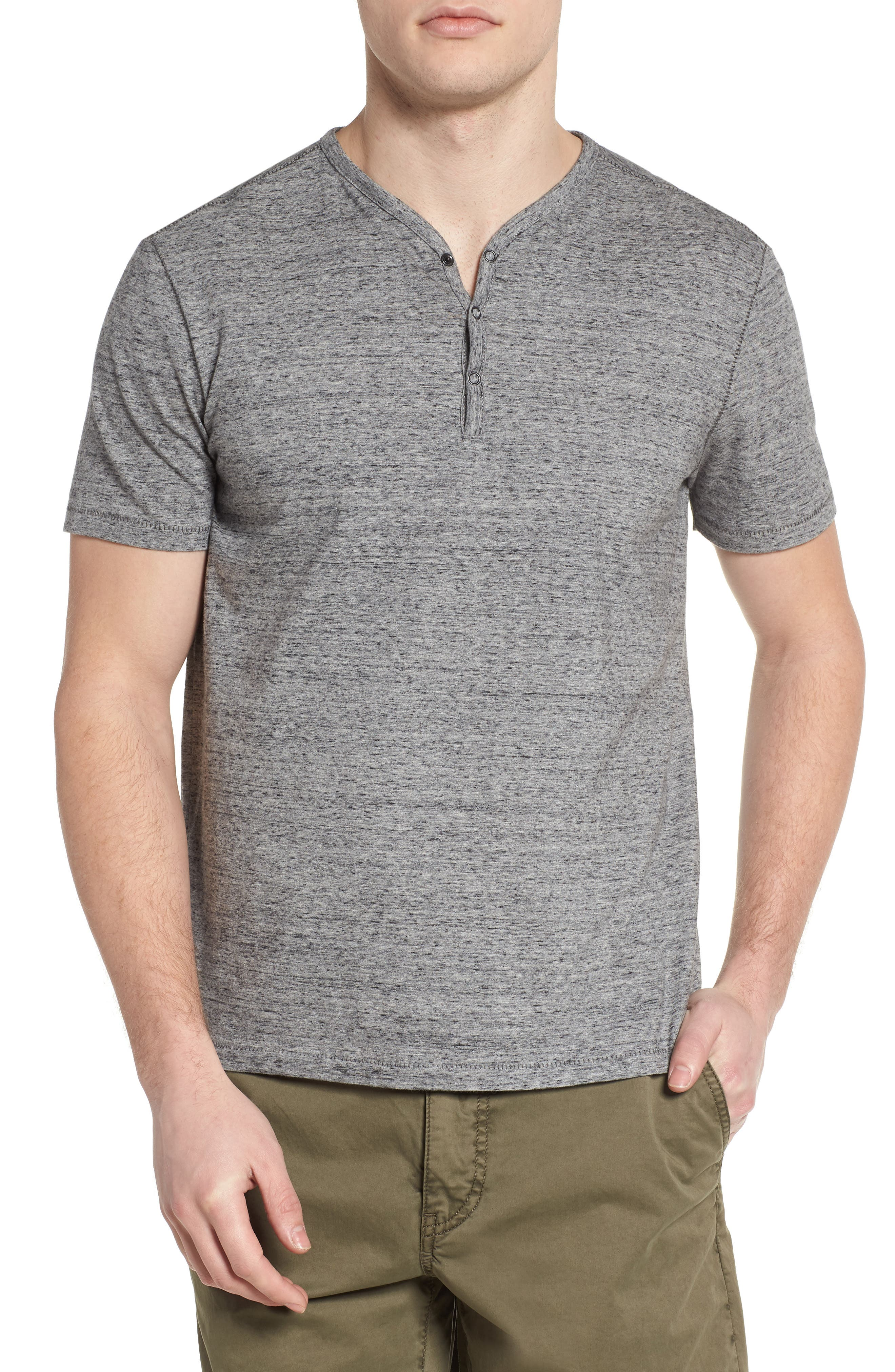 Regular Fit Henley,                             Main thumbnail 1, color,                             Mercury Grey