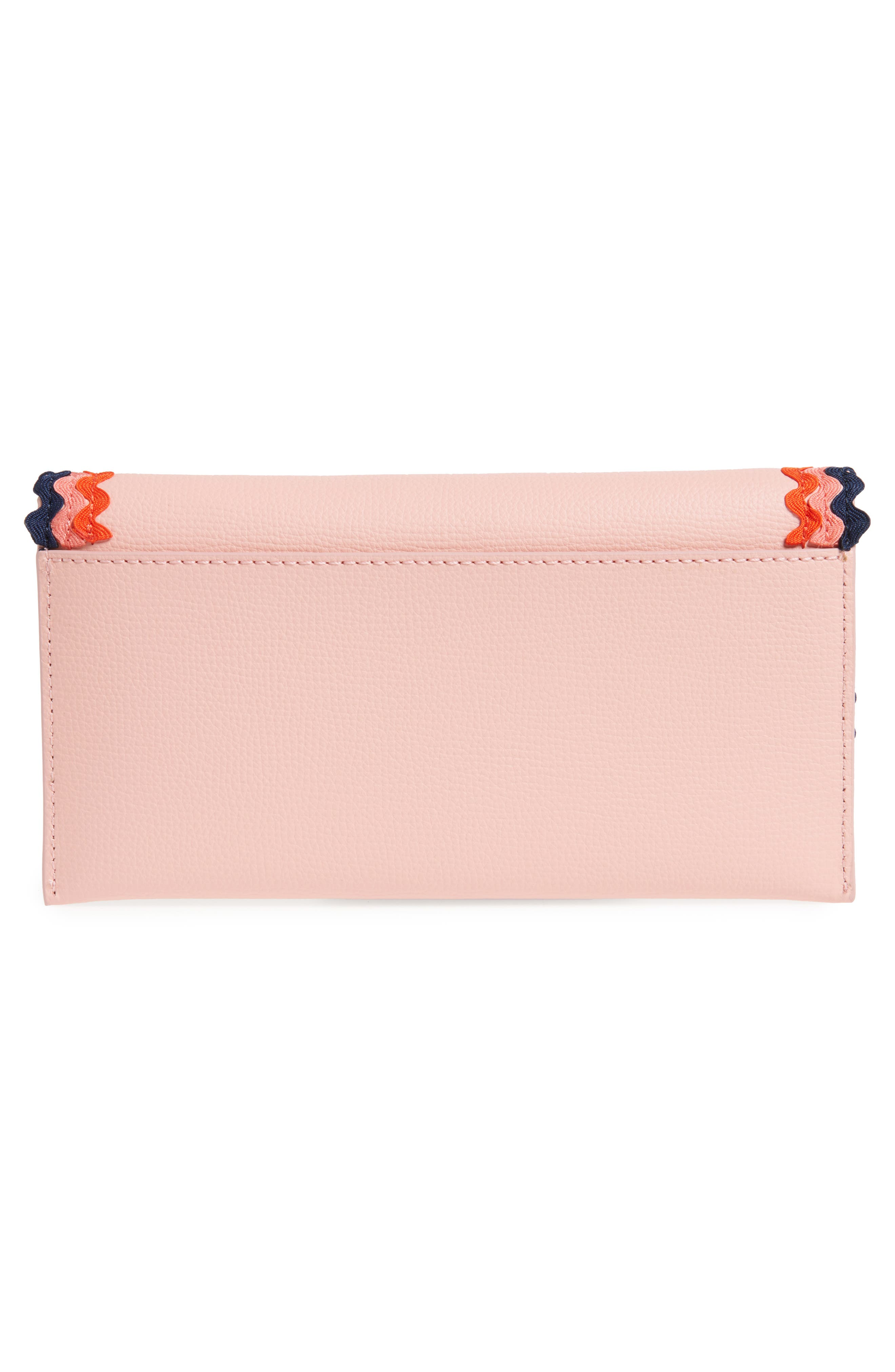 Eveything Embellished Leather Wallet,                             Alternate thumbnail 4, color,                             Ballet/ Multi
