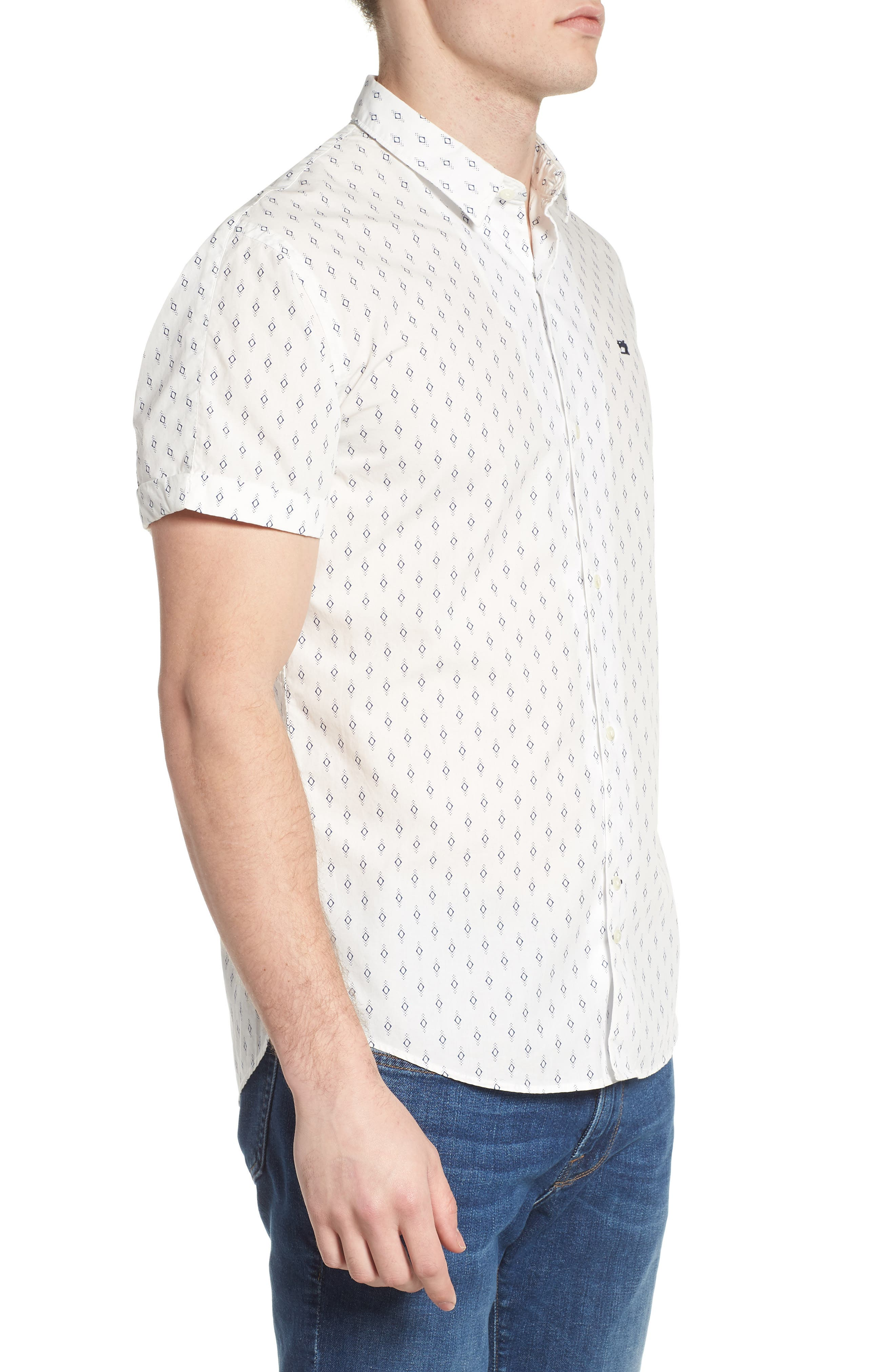 Classic Fit Print Woven Shirt,                             Alternate thumbnail 4, color,                             Combo B
