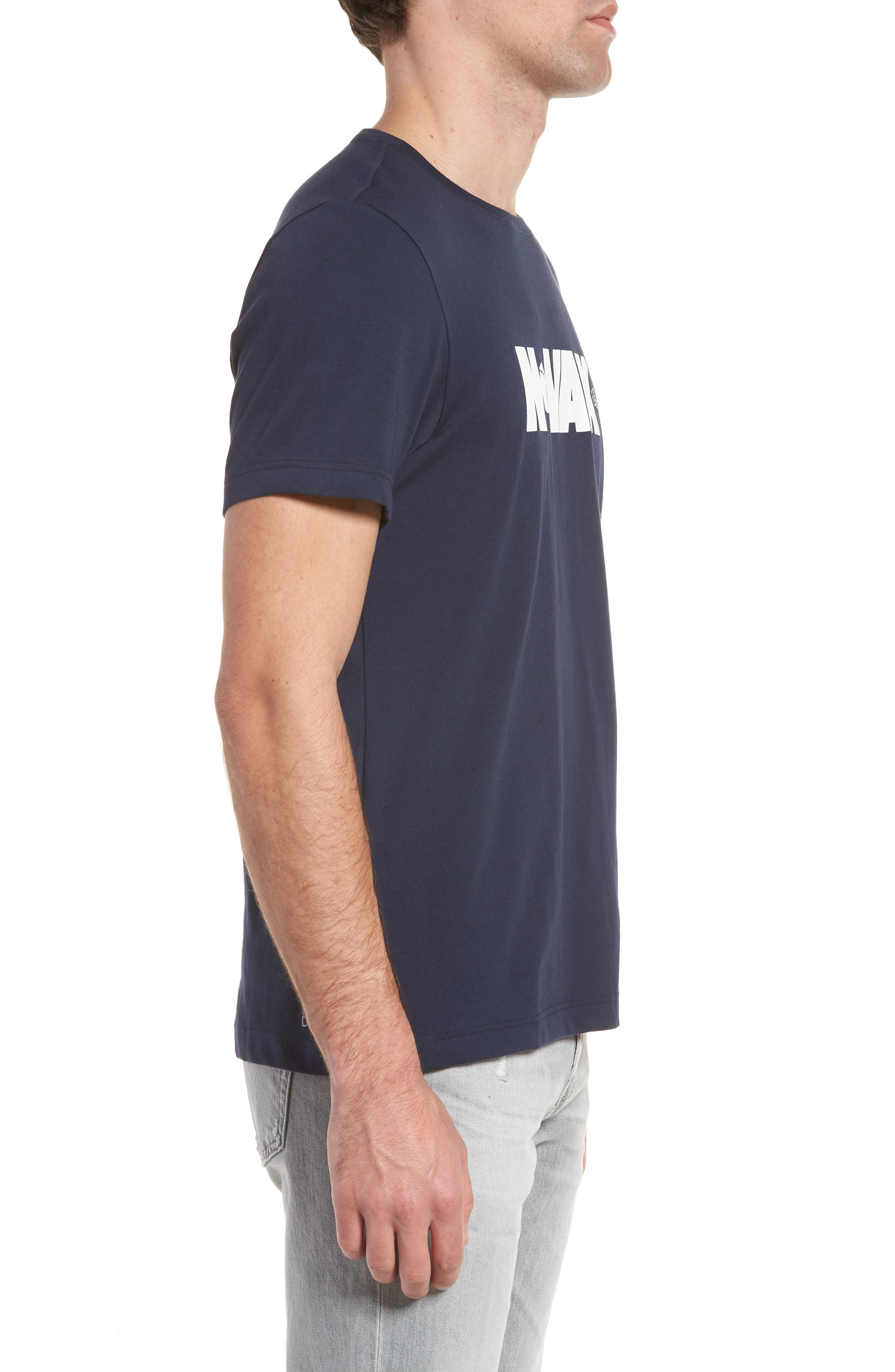 Sport Novak Djokovic Crewneck Tech Jersey T-Shirt,                             Alternate thumbnail 3, color,                             Navy Blue/ White