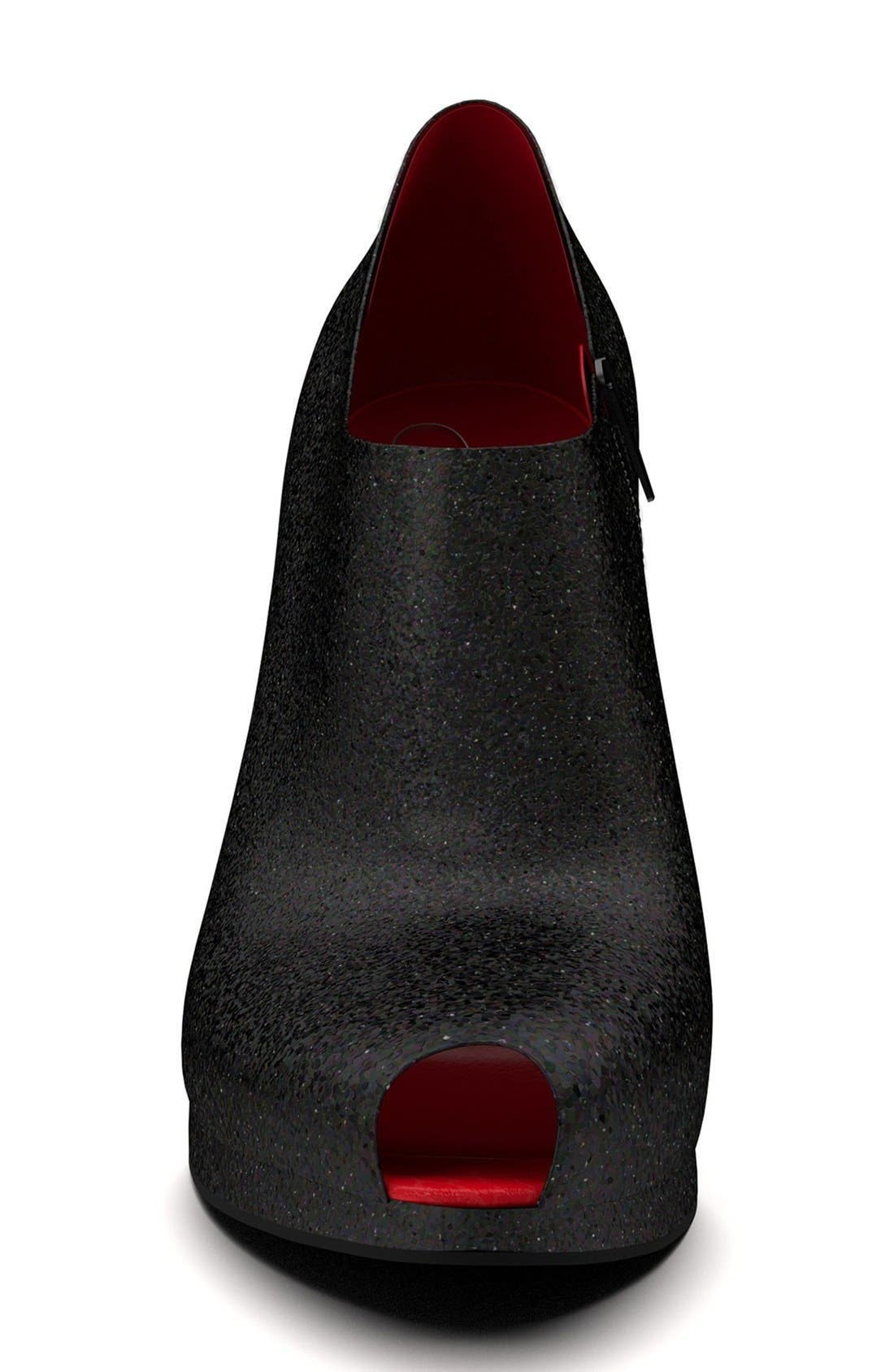 Alternate Image 6  - Shoes of Prey Glitter Peep Toe Platform Bootie (Women)