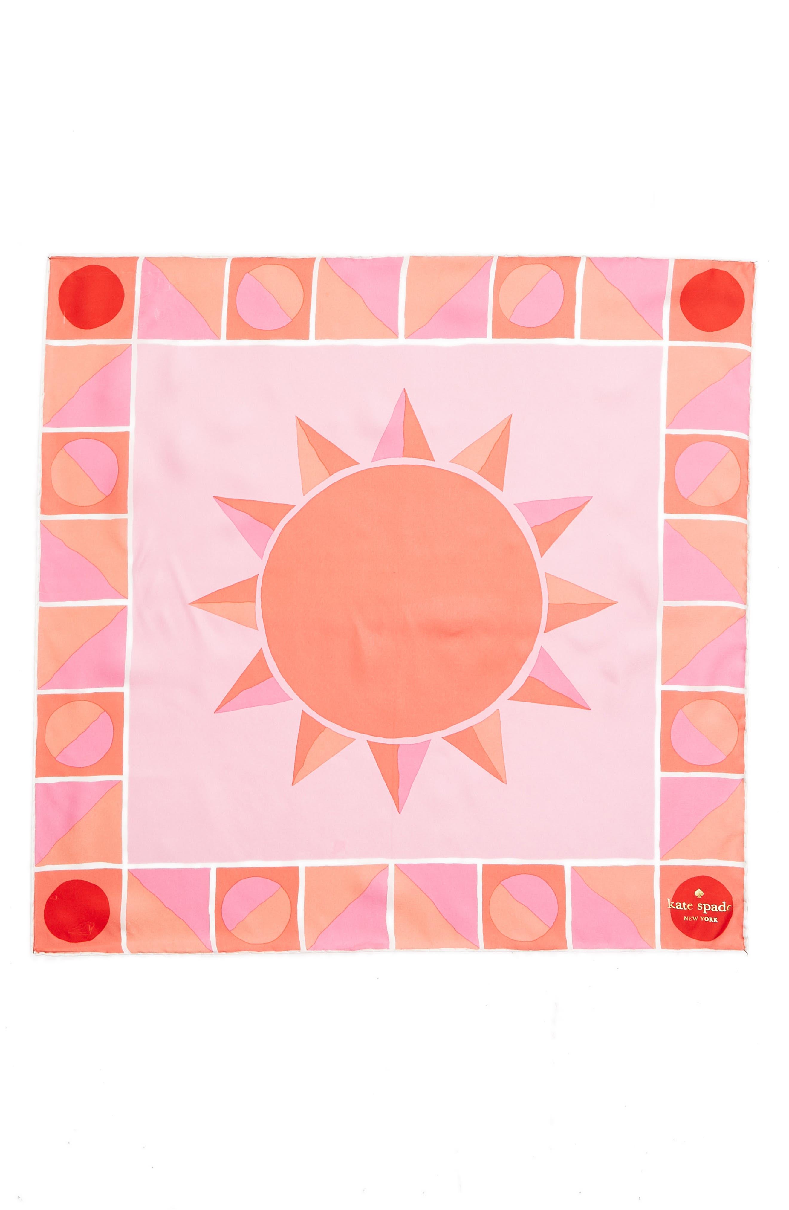 sun silk bandana,                             Alternate thumbnail 3, color,                             Surf Pink