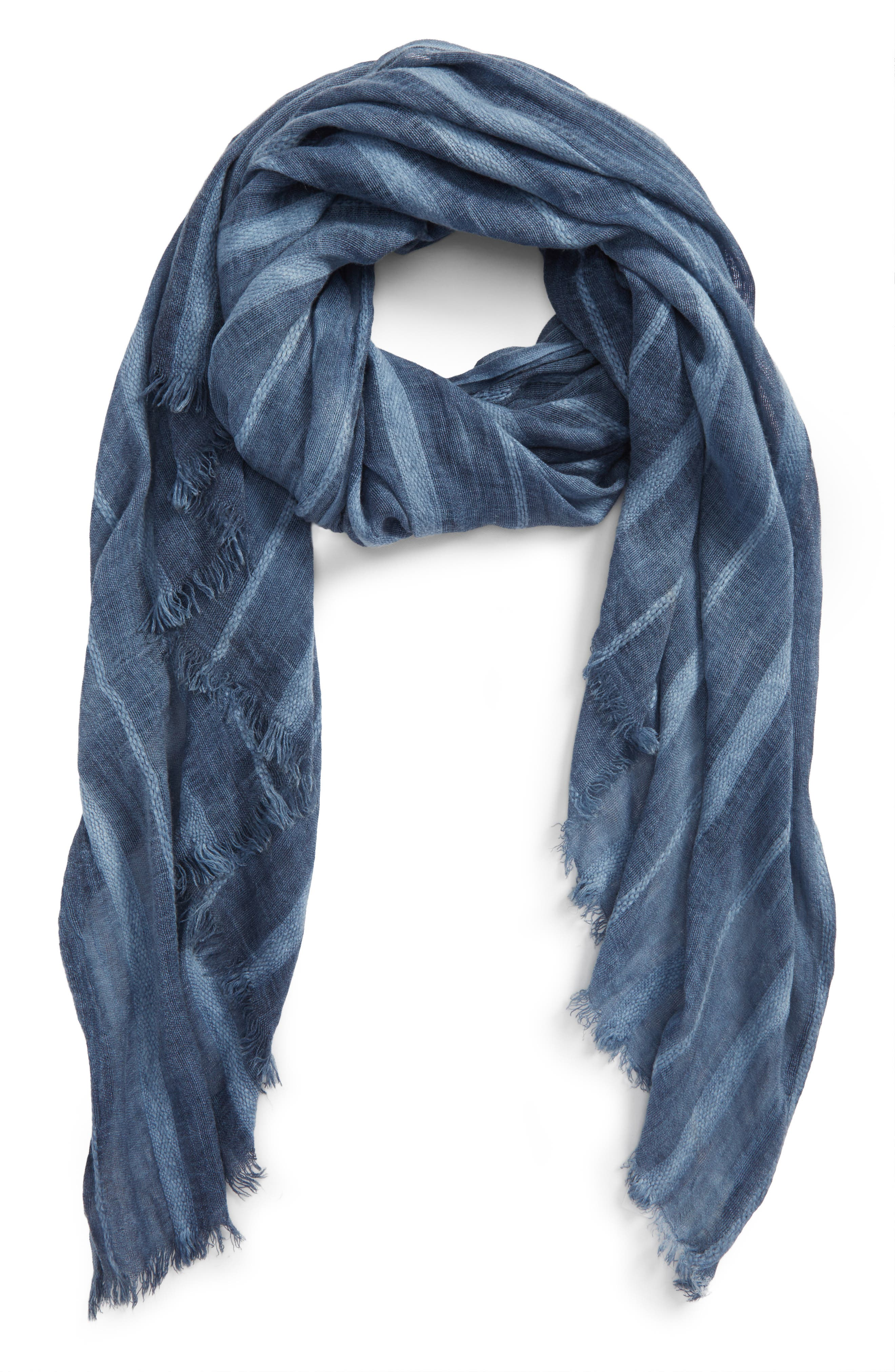 Stripe Textured Wrap,                             Main thumbnail 1, color,                             Blue Stonewash