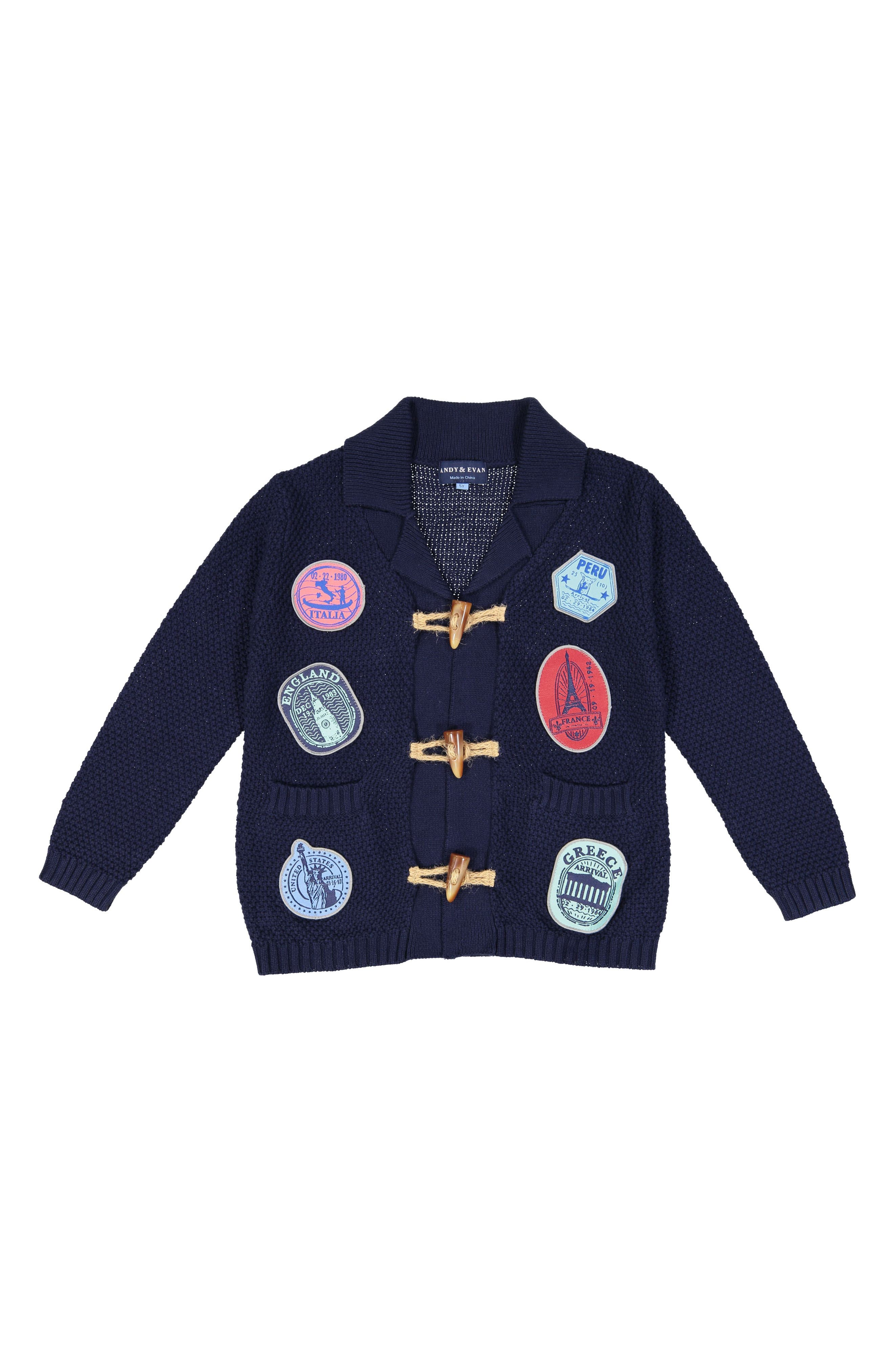 Andy & Evan Toggle Cardigan (Toddler Boys)