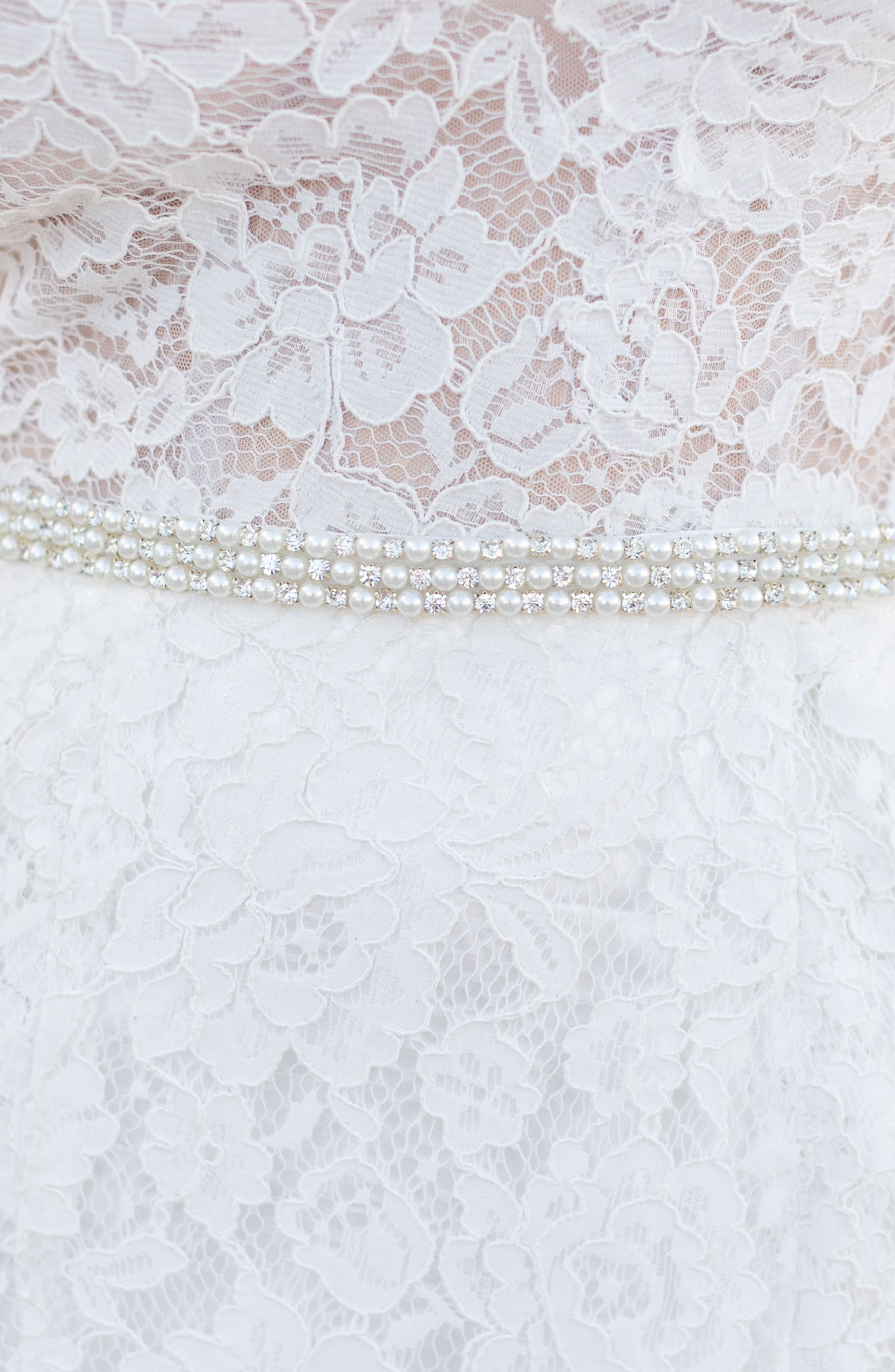 Lovely Bead & Crystal Belt,                             Alternate thumbnail 2, color,                             Silver